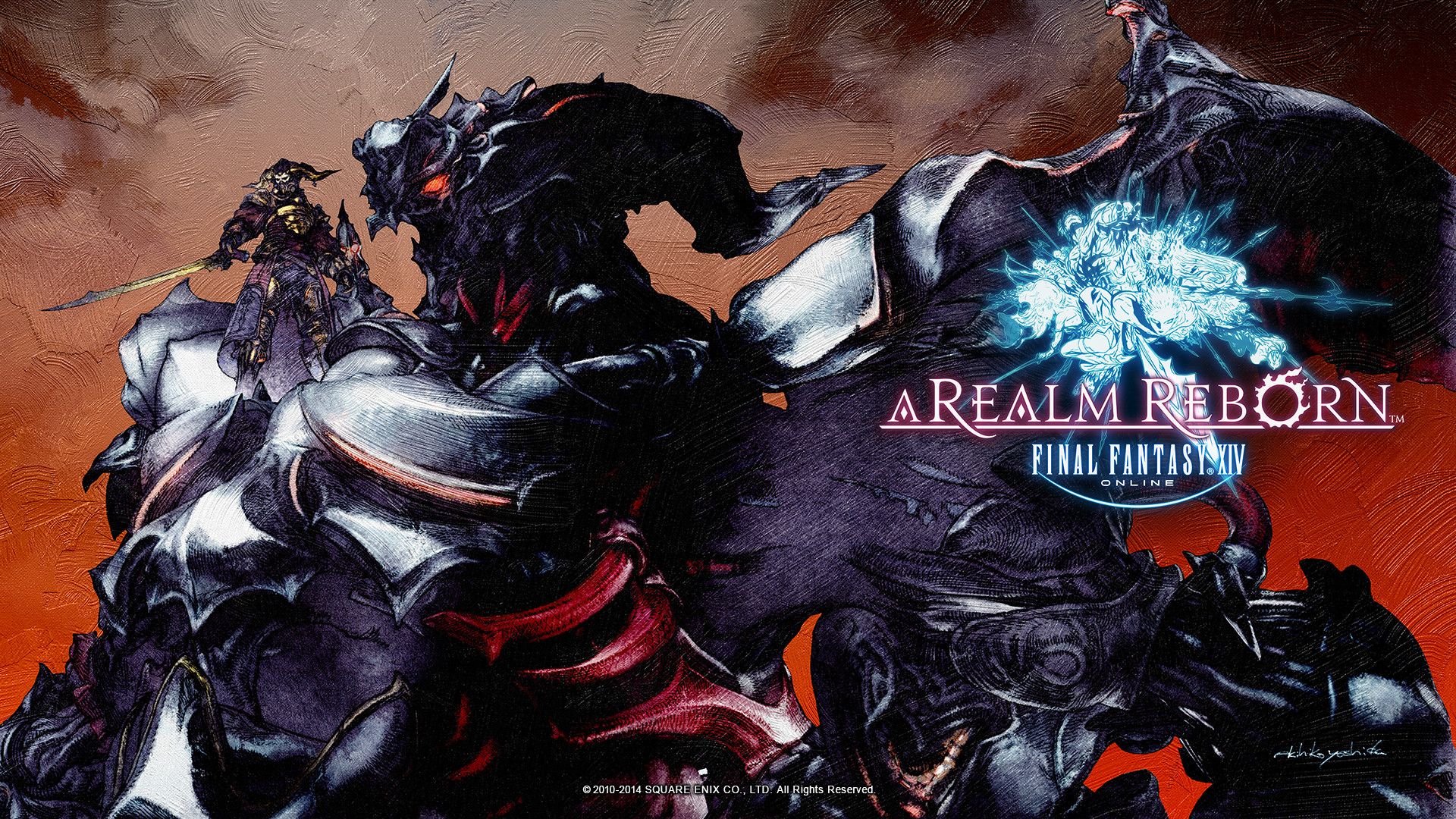 Fantasy XIV: A Realm Reborn Wallpapers Featuring Gaius and Bahamut .