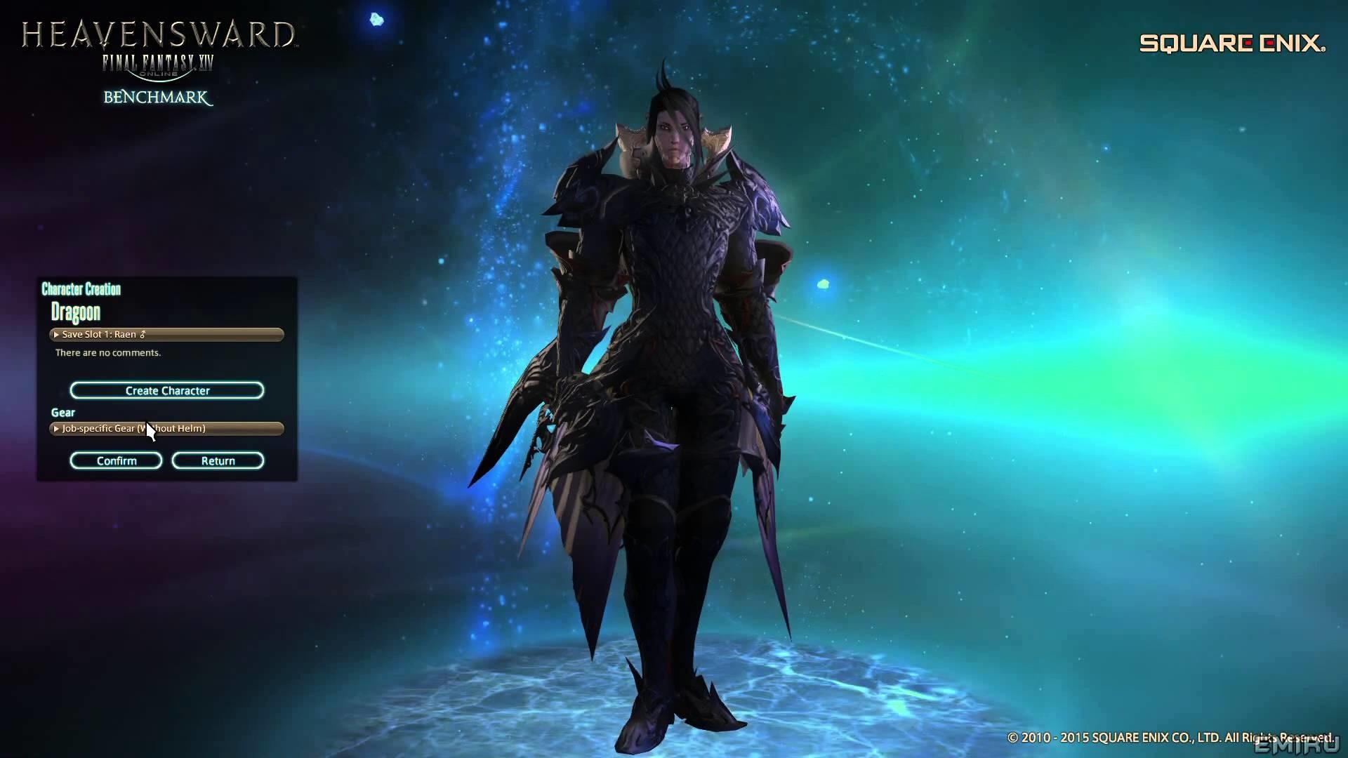 Final Fantasy XIV Heavensward Benchmark & Au Ra Character Creation – YouTube