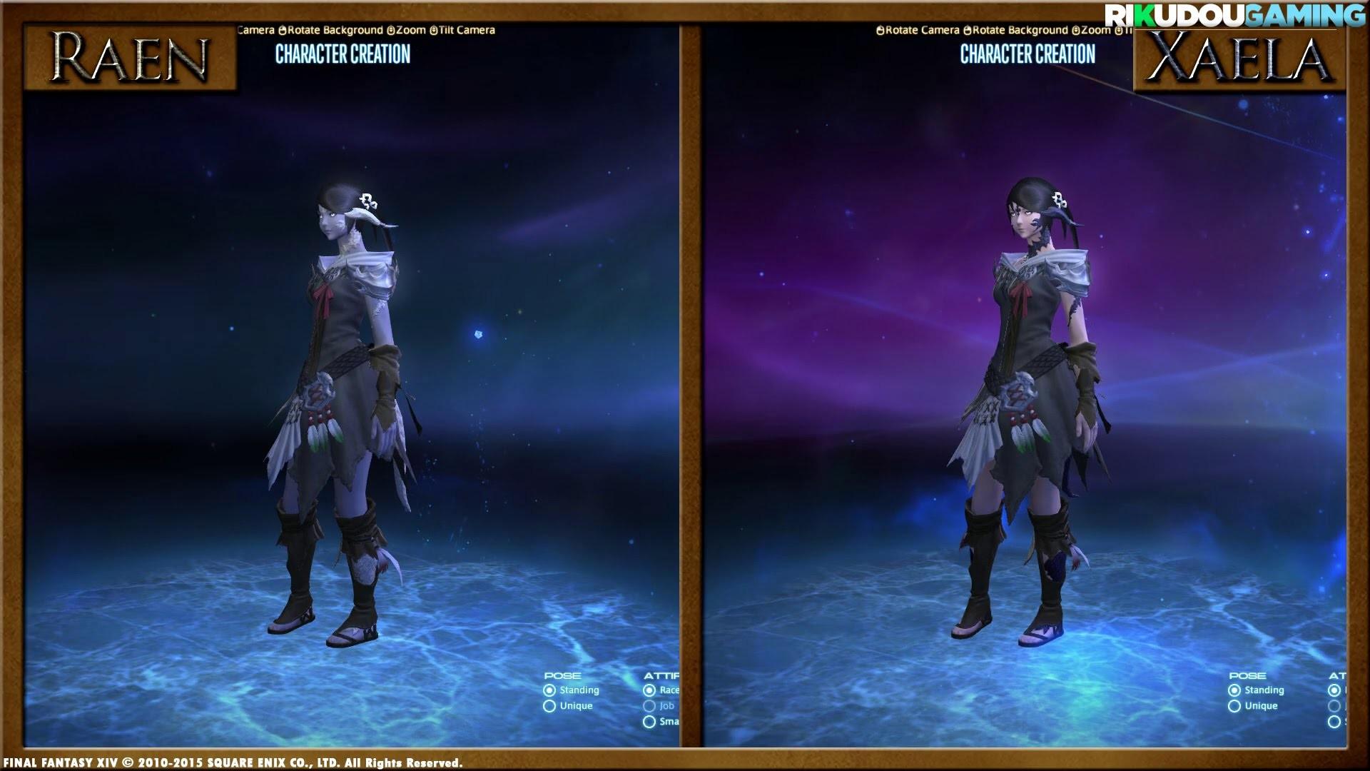 FFXIV: Au Ra Raen & Xaela Side by Side Comparison [Character Creation] –  YouTube