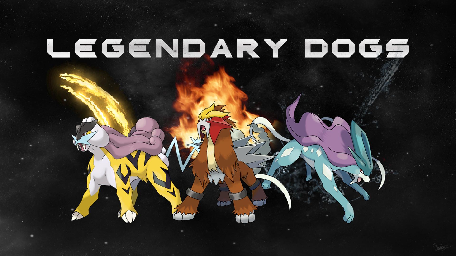 pokemon legendary dogs - HD1920×1080