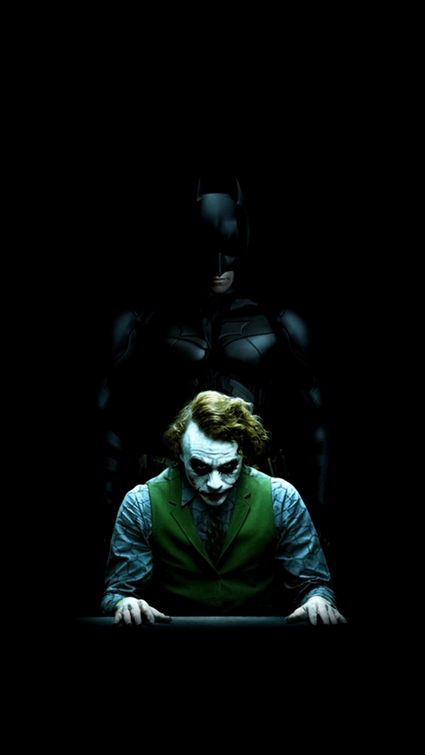 Batman and Joker – The Dark Knight ❤❤. Find this Pin and more on Amoled  Lockscreen Homescreen Wallpapers …