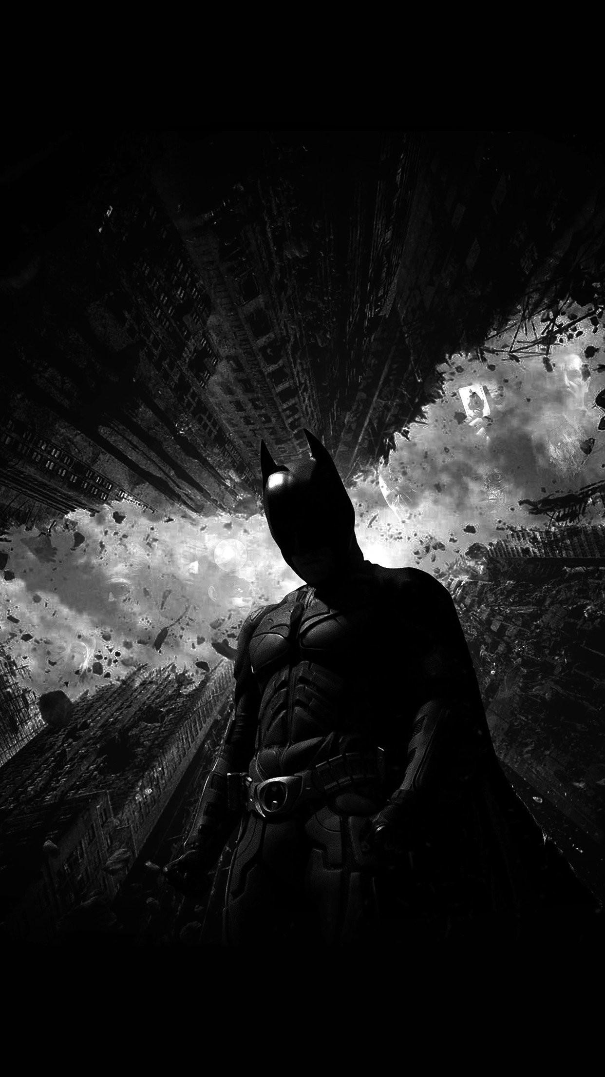 batman dark bw hero art iPhone 7 wallpaper