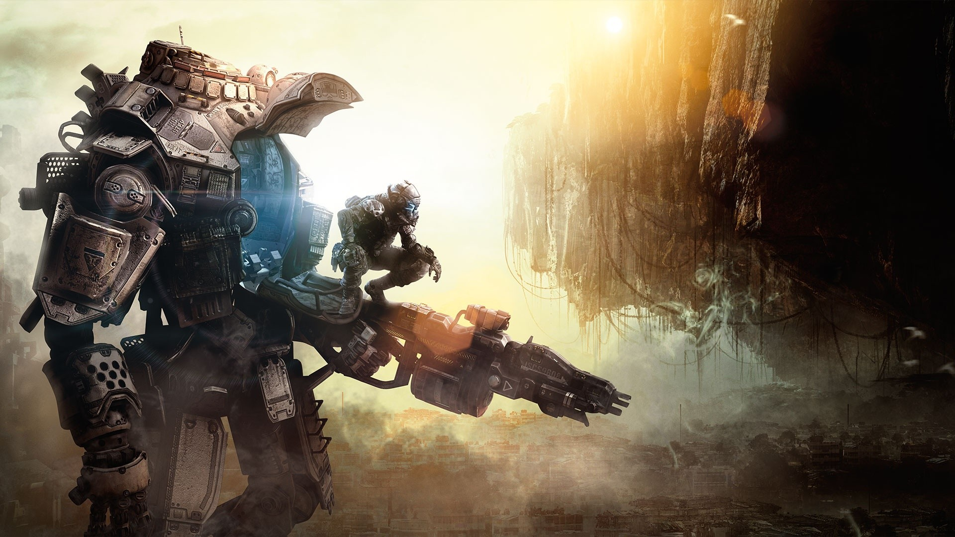 Preview wallpaper titanfall, game, heroes, robot 1920×1080