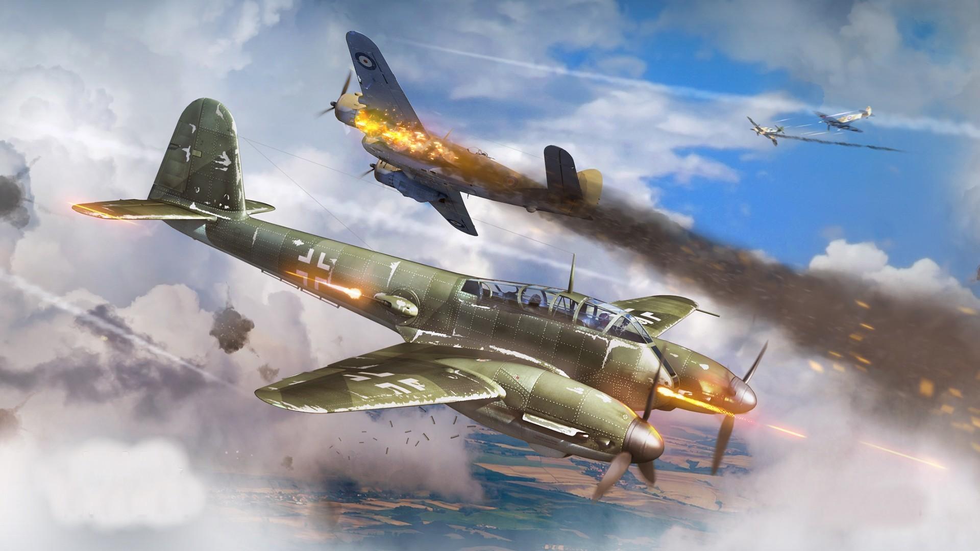 World War II, Military Aircraft, Aircraft, Military, Airplane, Germany,  Luftwaffe, Messerschmitt, Me410, War Thunder, Dogfight Wallpapers HD /  Desktop and …