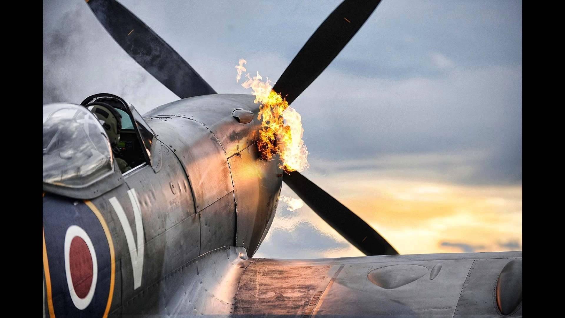 Spitfire Planes World War II Flame …