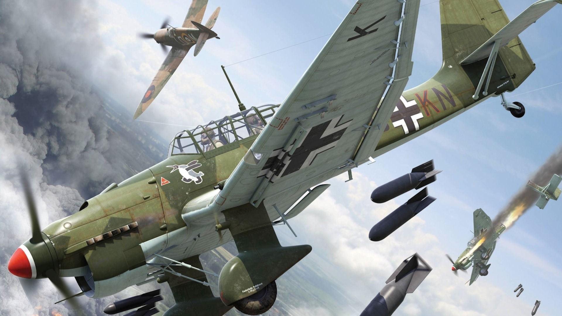 Download Wallpapers, Download airplanes world war ii stuka  supermarine spitfire jetfire junkers ju87 stuka