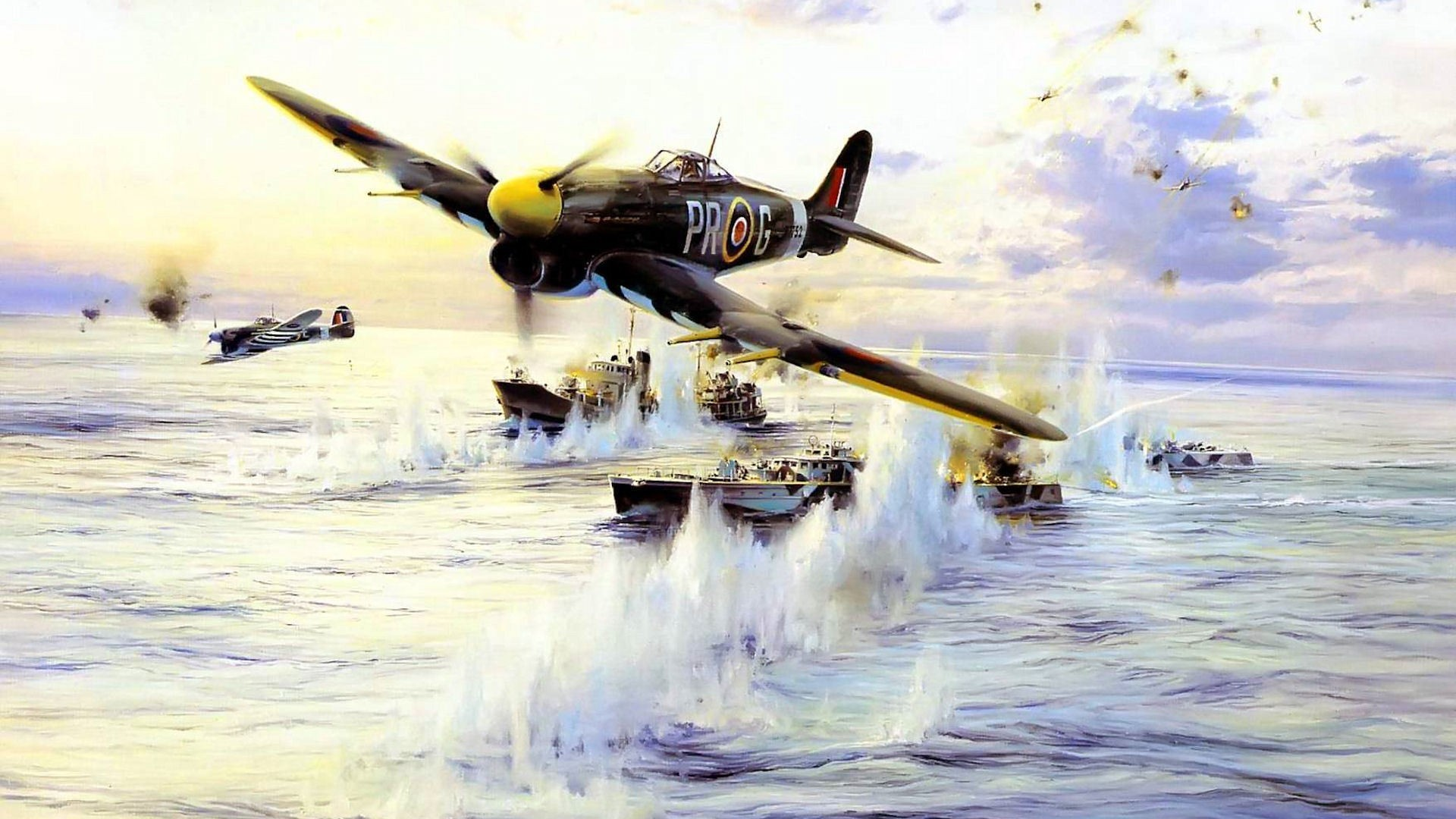World War II, Airplane, Aircraft, Hawker Typhoon, Military, Military  Aircraft, D Day Wallpapers HD / Desktop and Mobile Backgrounds