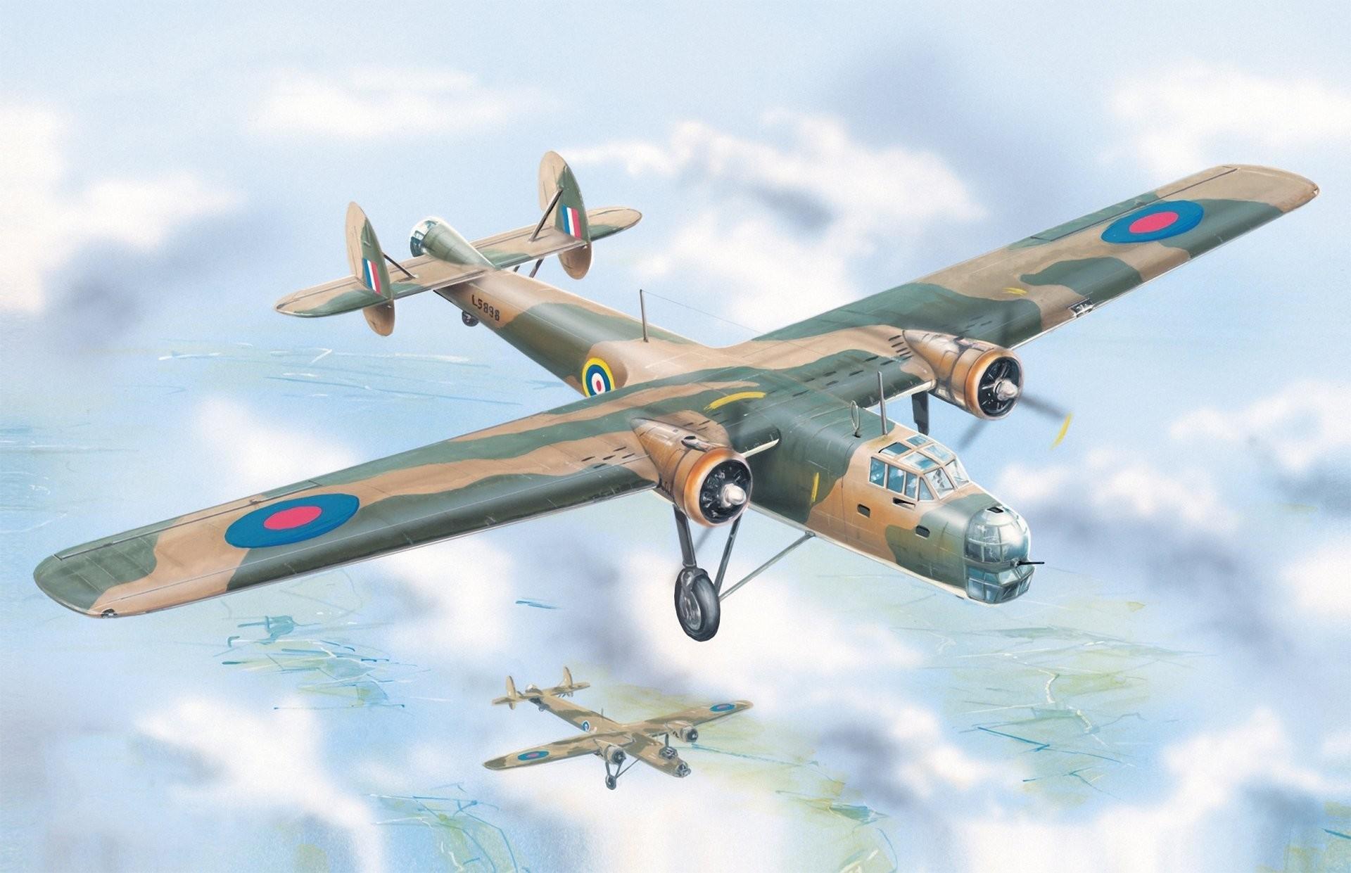 bristol bombay mk.i british bomber ww2 art war painting drawing airplane  aircraft aviation art
