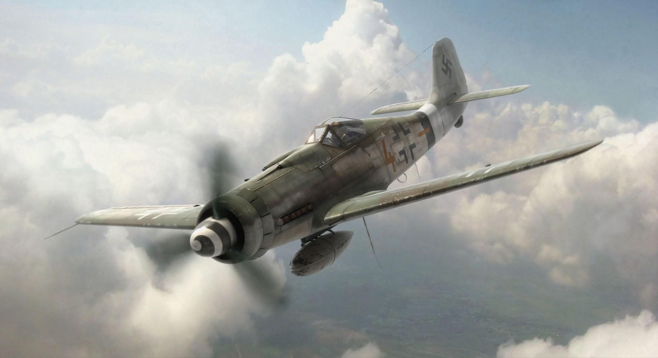 aviation aircraft airplane war dogfight ww2 german aircraft fw 190
