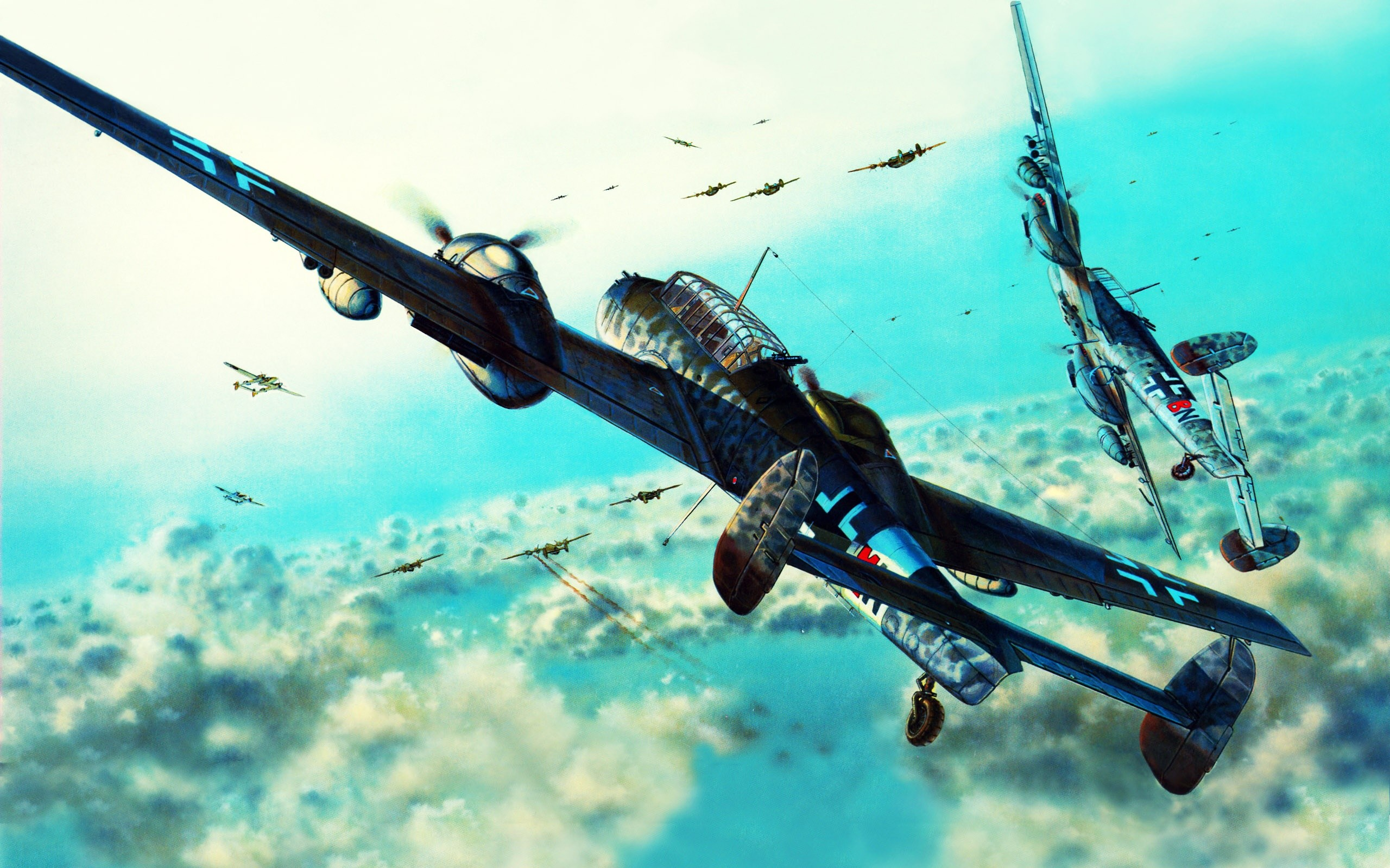 WWII Aircraft in Mission