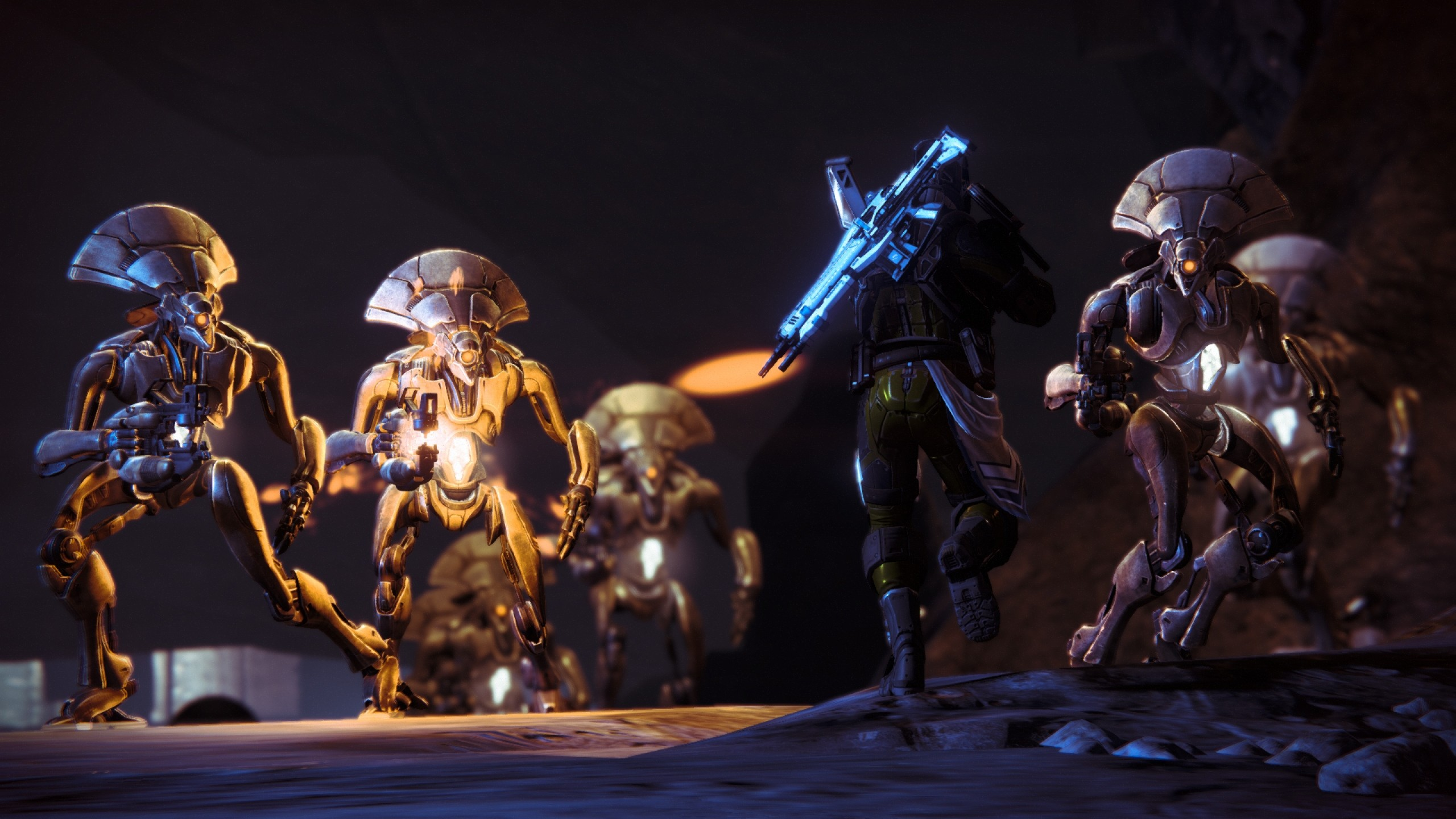Preview wallpaper destiny, game, characters, 3d 2560×1440