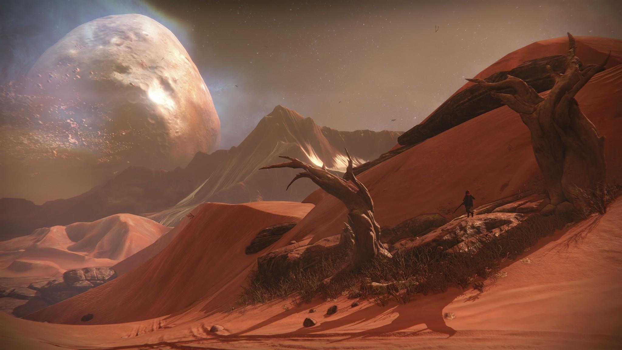 Preview wallpaper destiny, desert, game, novelty 2048×1152