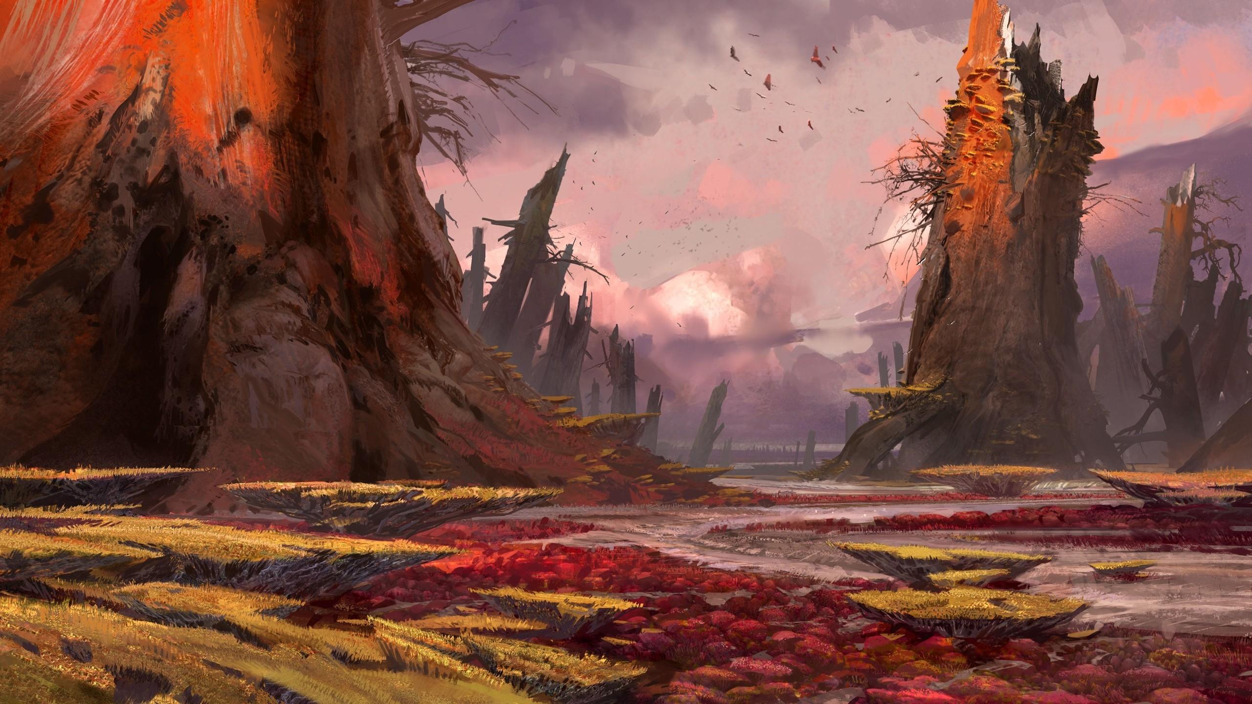 Landscapes birds concept art artwork Bungie Destiny (video game) wallpaper  | | 214227 | WallpaperUP