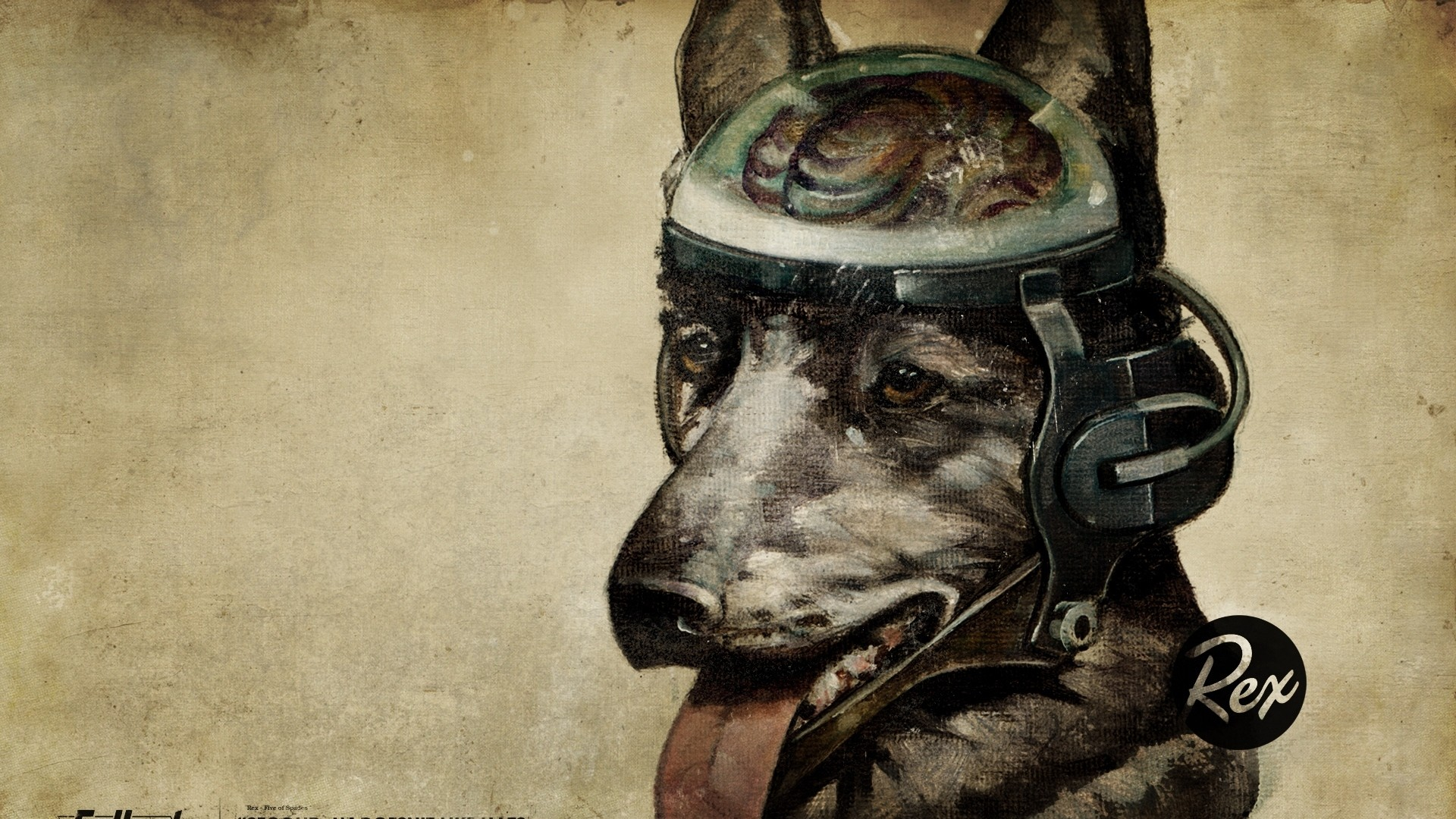 Preview wallpaper fallout, quote, dog, look 1920×1080
