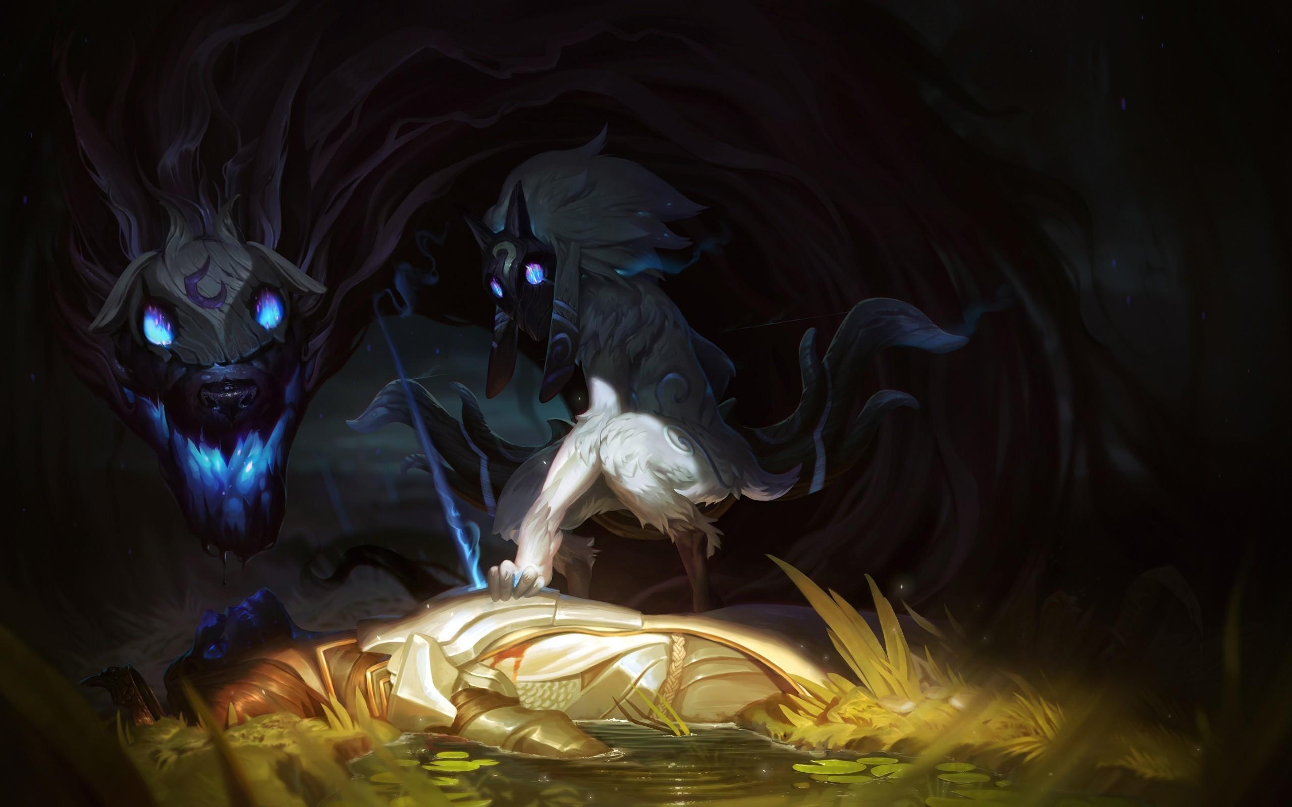 fantasy Art, Kindred, League Of Legends Wallpapers HD / Desktop and Mobile  Backgrounds