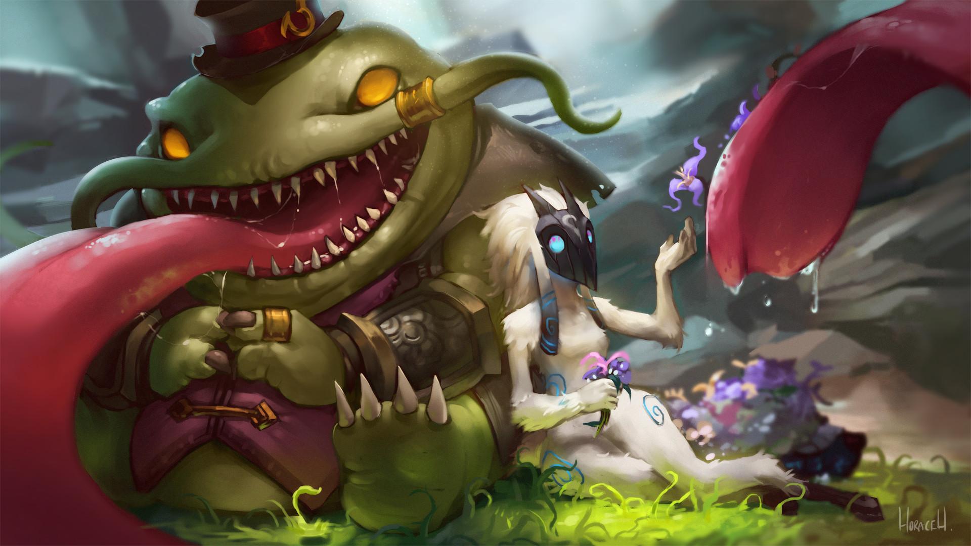 Tahm Kench & Kindred by Hozure HD Wallpaper Fan Art Artwork League of  Legends lol