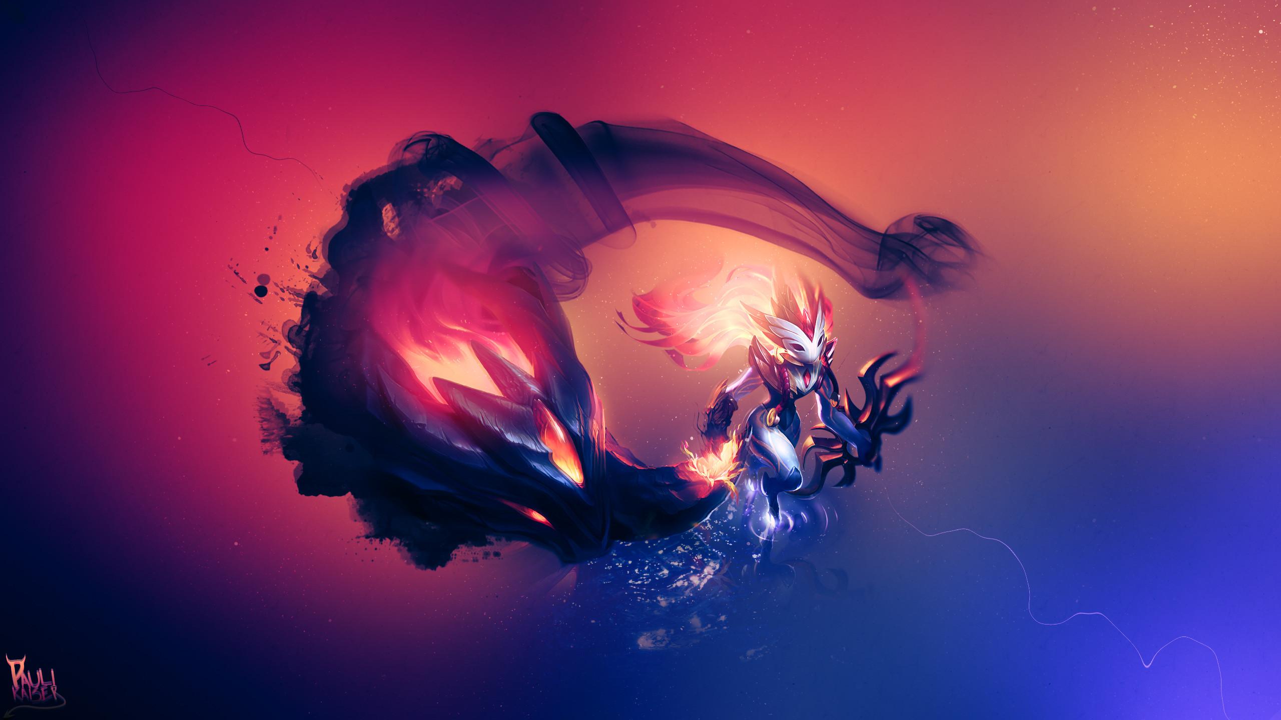Shadowfire Kindred by Paulikaiser HD Wallpaper Fan Art Artwork League of  Legends lol