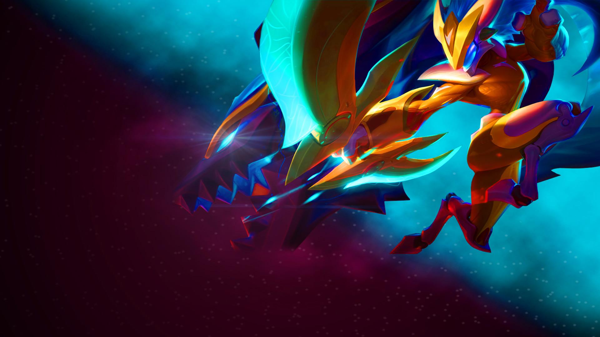 Super Galaxy Kindred by Sammylad298 HD Wallpaper Fan Art Artwork League of  Legends lol