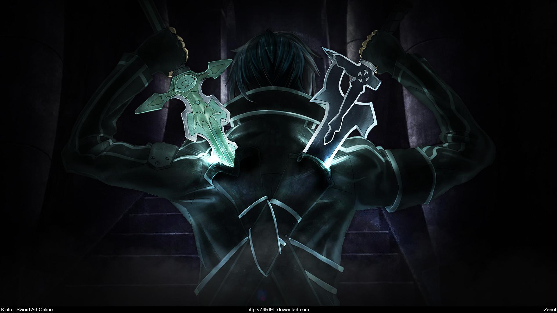 Sword Art Online Kirito Dual Blade Wallpaper