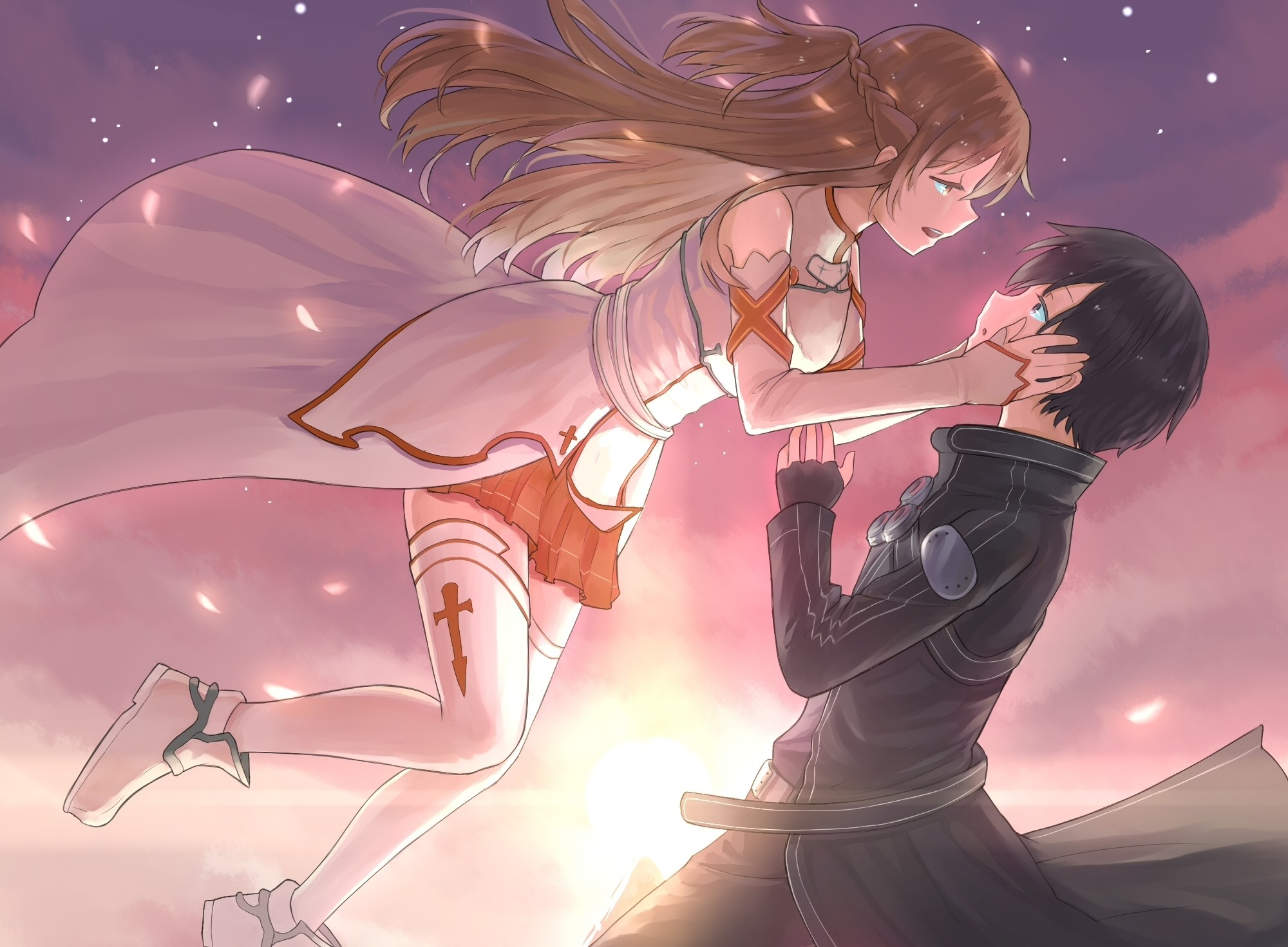 Sword Art Online Kirito and Asuna Hug
