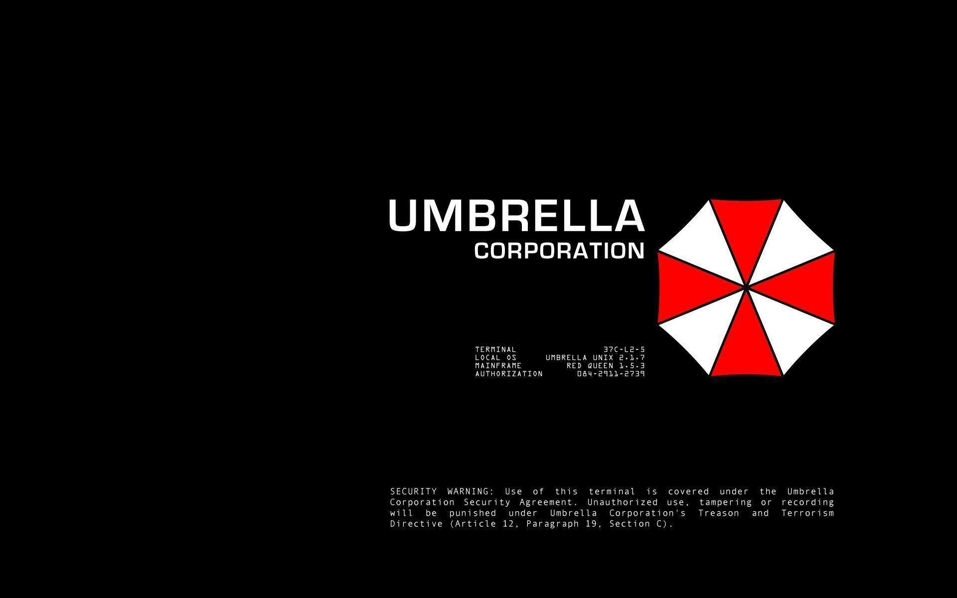 Resident Evil Umbrella Corp Logos Black Background 1440×900 Wallpaper