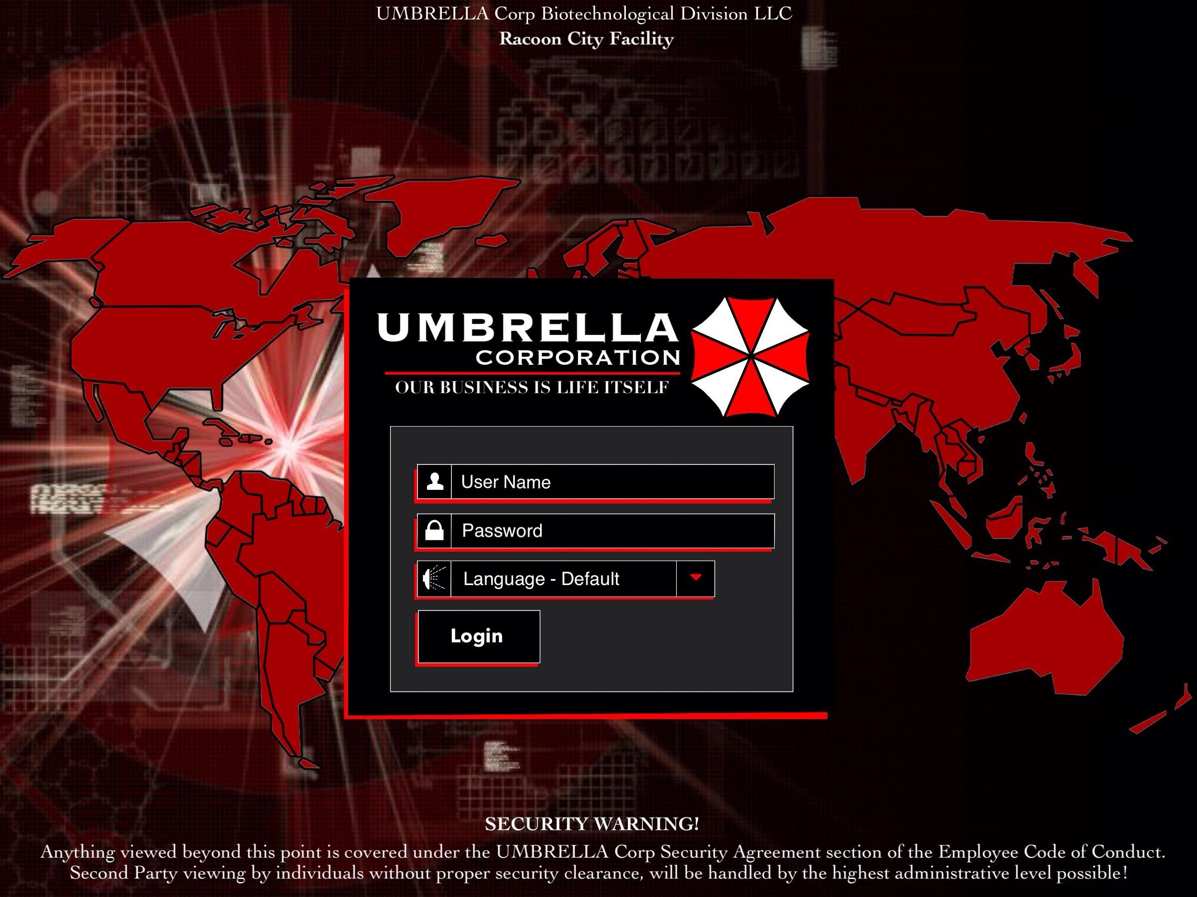 Umbrella Corp PC Global by HardenHeart on DeviantArt