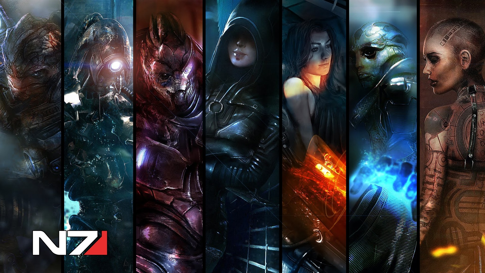 Preview wallpaper mass effect, shots, photos, characters, faces 1920×1080