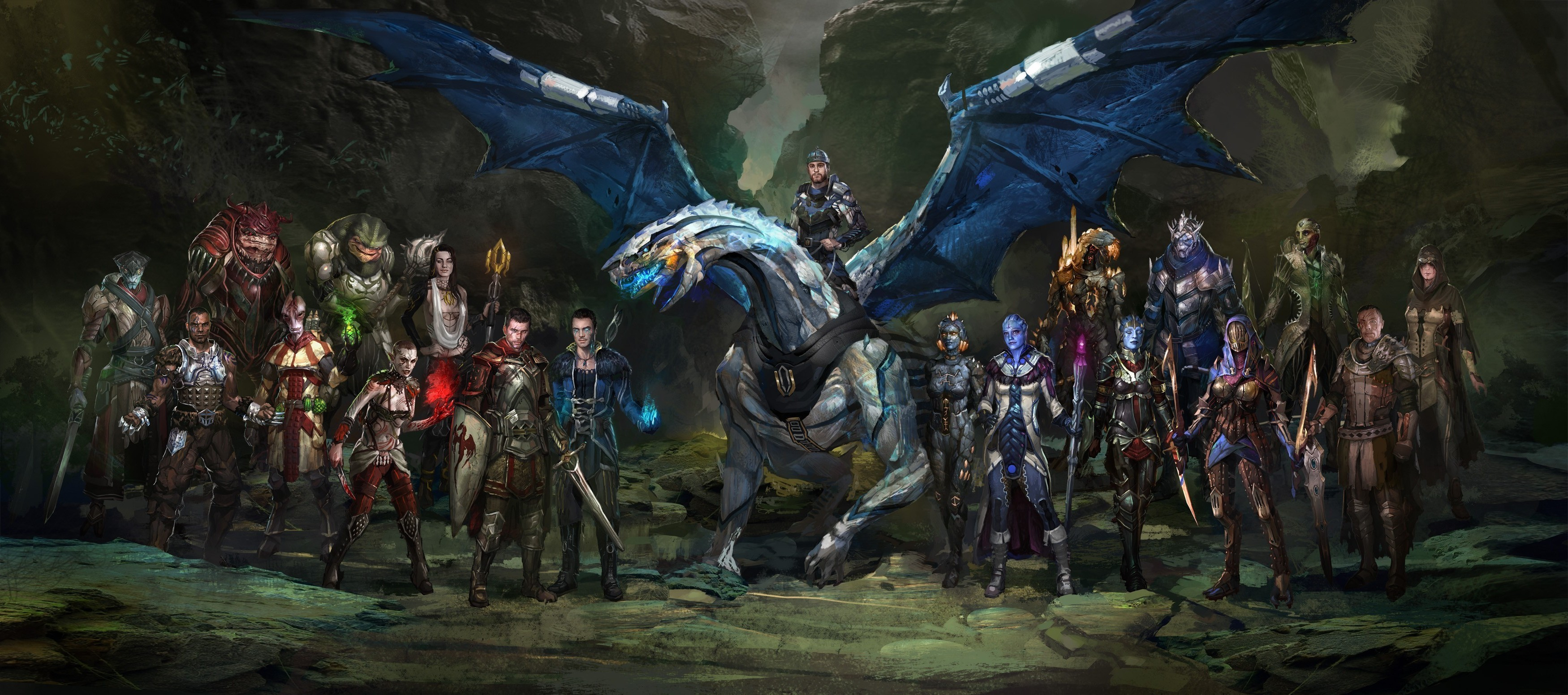 fantasy Art, Dragon Age, Mass Effect, Mash ups Wallpapers HD / Desktop and  Mobile Backgrounds