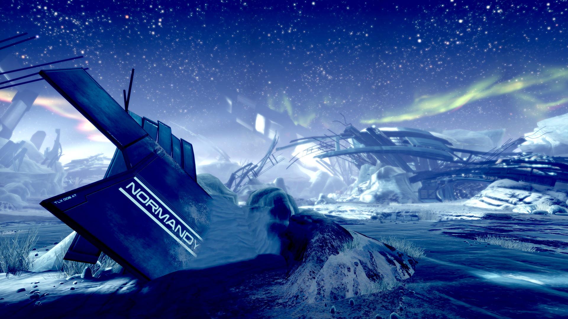 Mass Effect 3 Wallpaper Normandy Crash Site