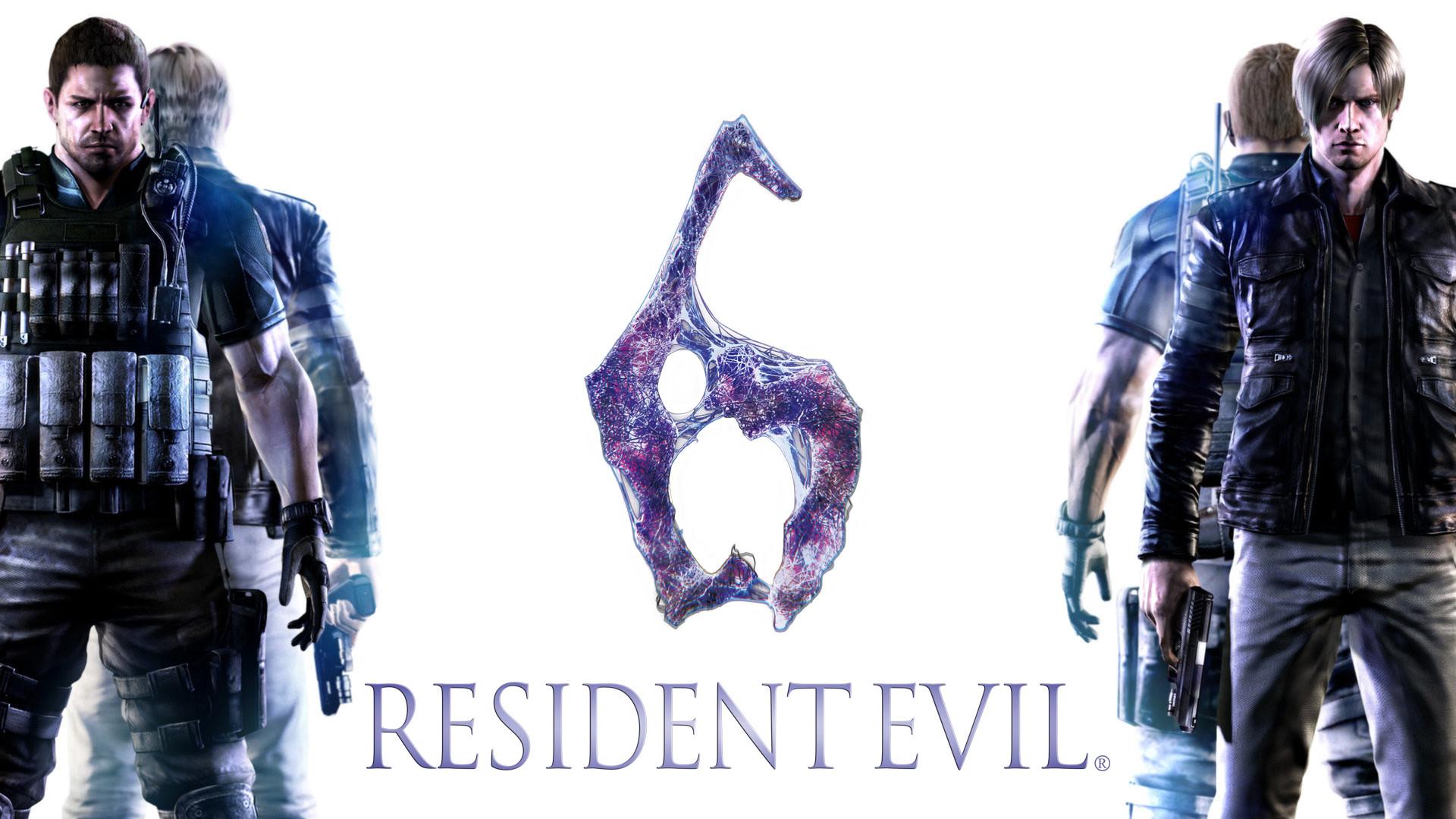 Preview wallpaper resident evil 6, biohazard 6, leon scott kennedy, chris  redfield,