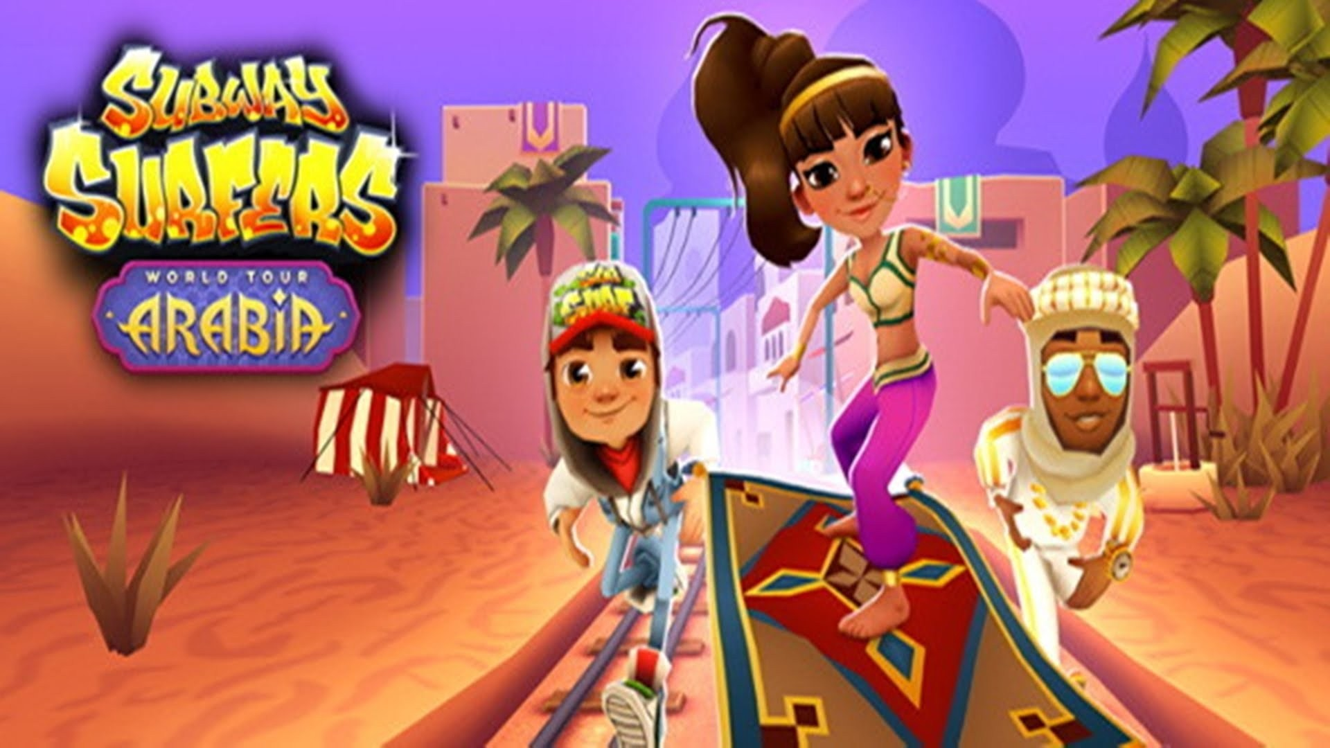 Power ups and challenges in Subway Surfers Arabia