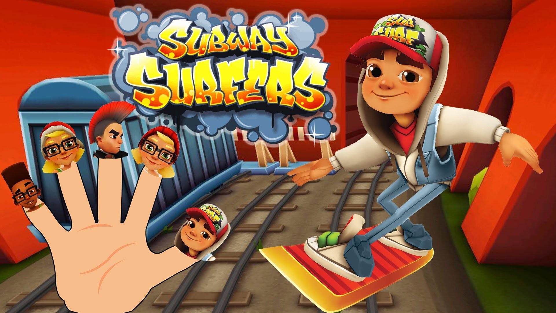 Subway Surfers Finger Family | HD Cartoon Finger Family Nursery Rhymes For  Children – YouTube