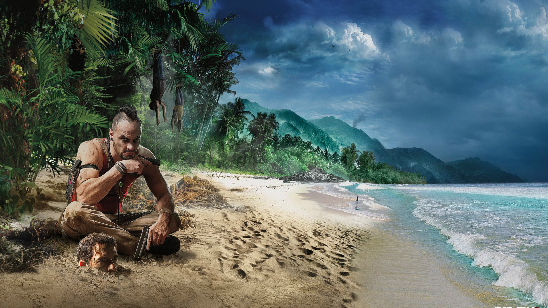 Wallpaper far cry 3, beach, game, graphics, hdr