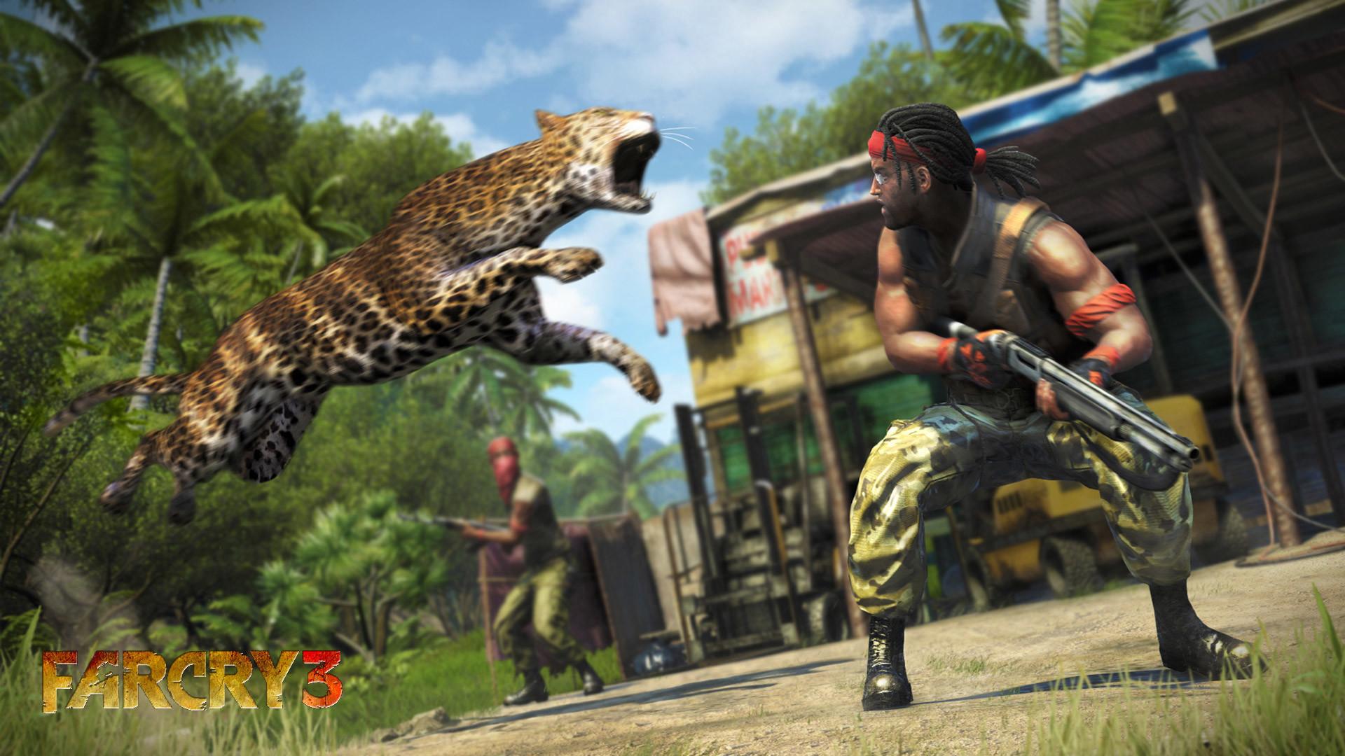 Far Cry 3 Tiger Attack Wallpaper HD Desktop Wallpaper, Background Image