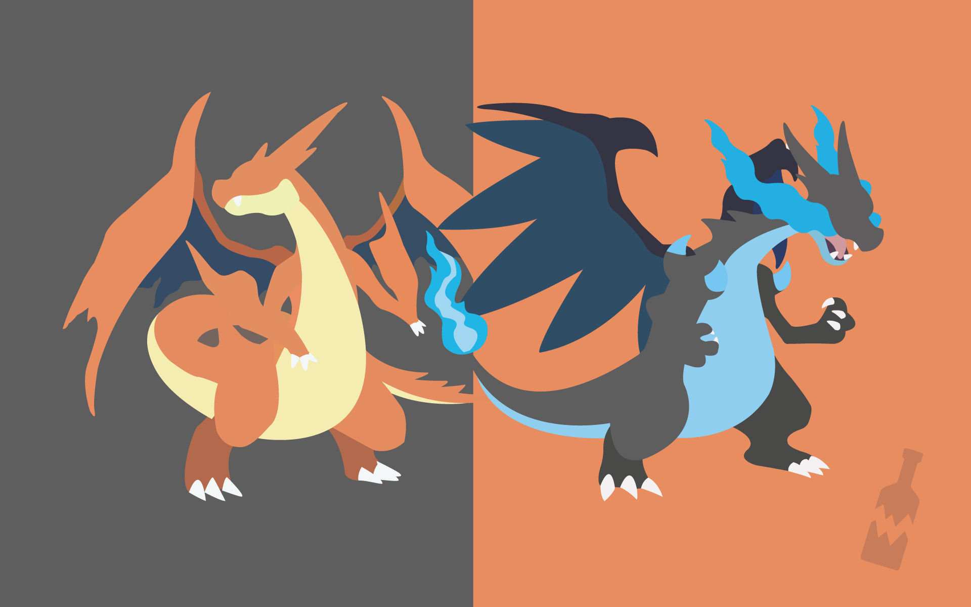 … Pokemon – Mega Charizard (X and Y) by TheBrokenBottle