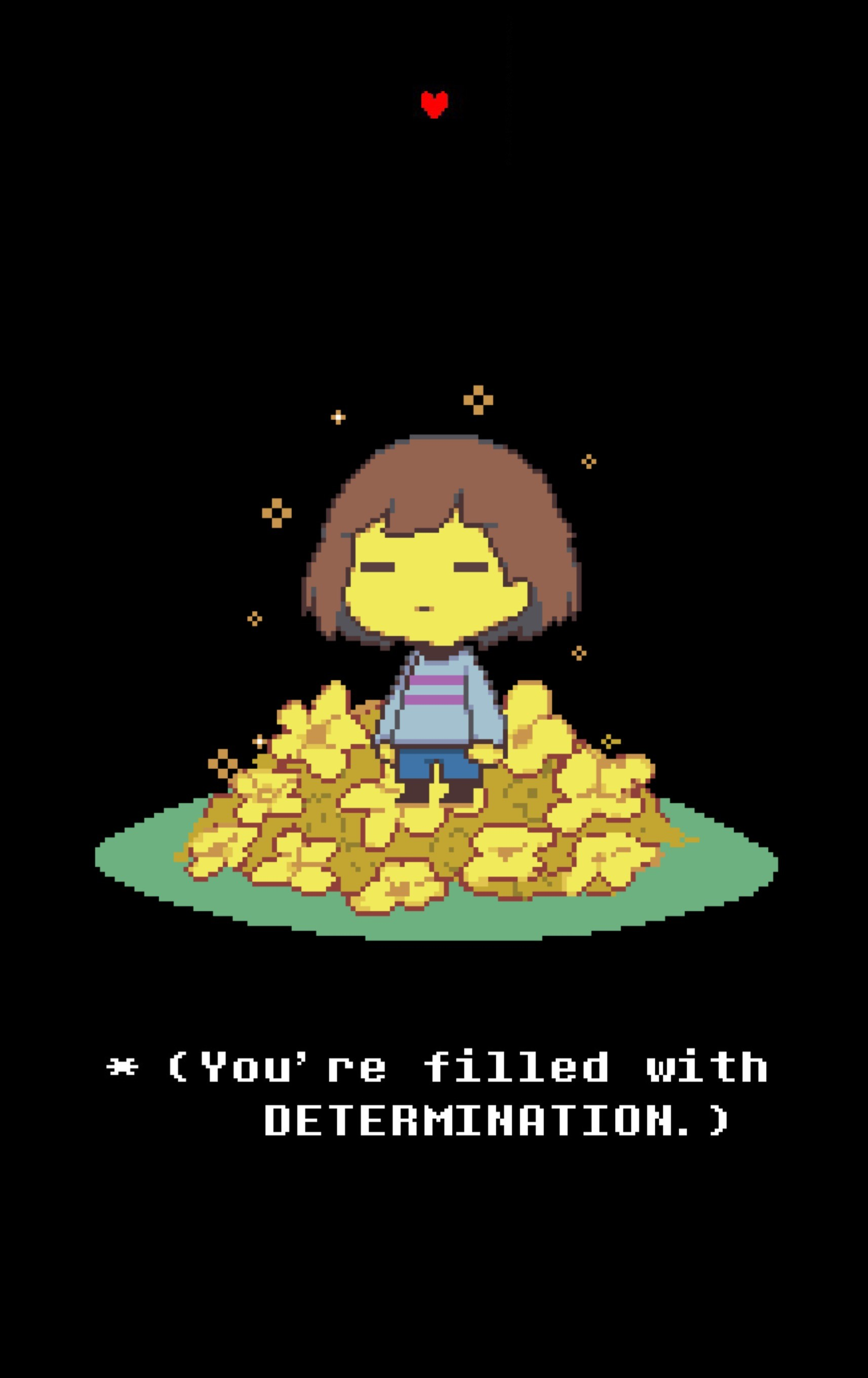 My Undertale iPhone wallpaper! (Credits to boorim on Deviantart for the  lovely Frisk pixel art)