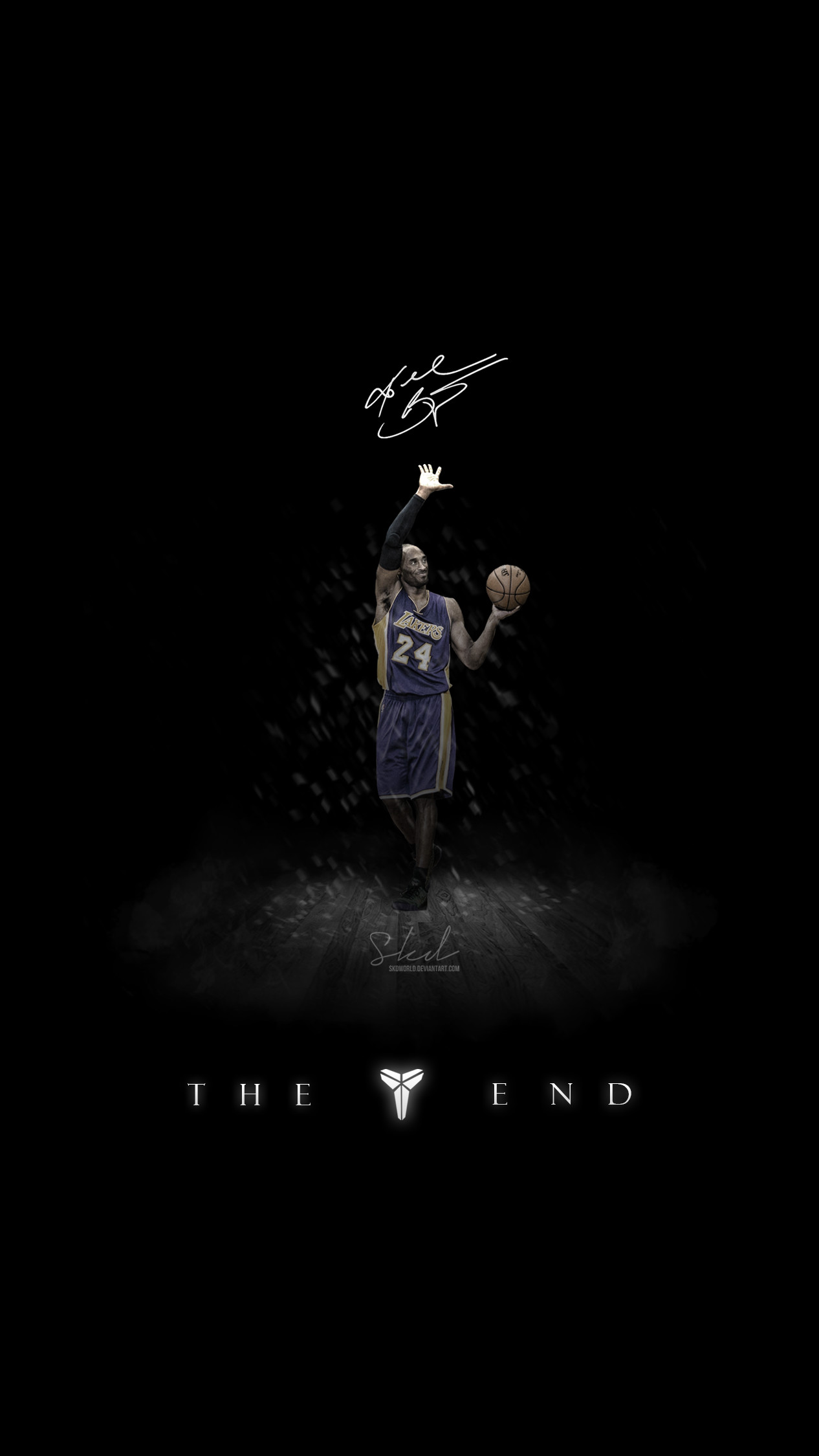 … Kobe: The End of Mamba Show Wallpaper for iPhone by SkdWorld