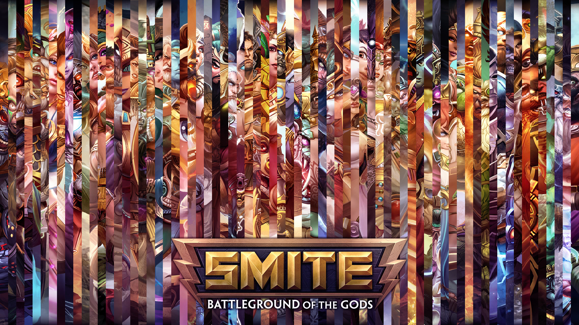 … SMITE – All Gods Lines Wallpaper (with Chiron) by Getsukeii