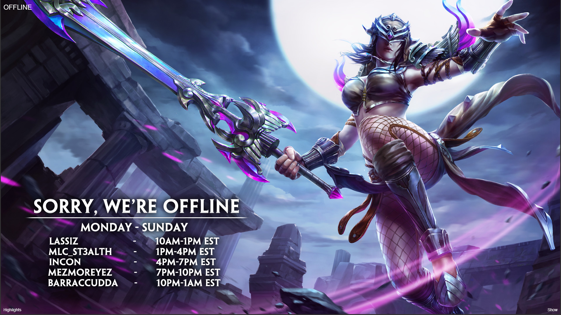 MEDIAWhat seems to be the most likely new Streaming Schedule for Smitegame  …