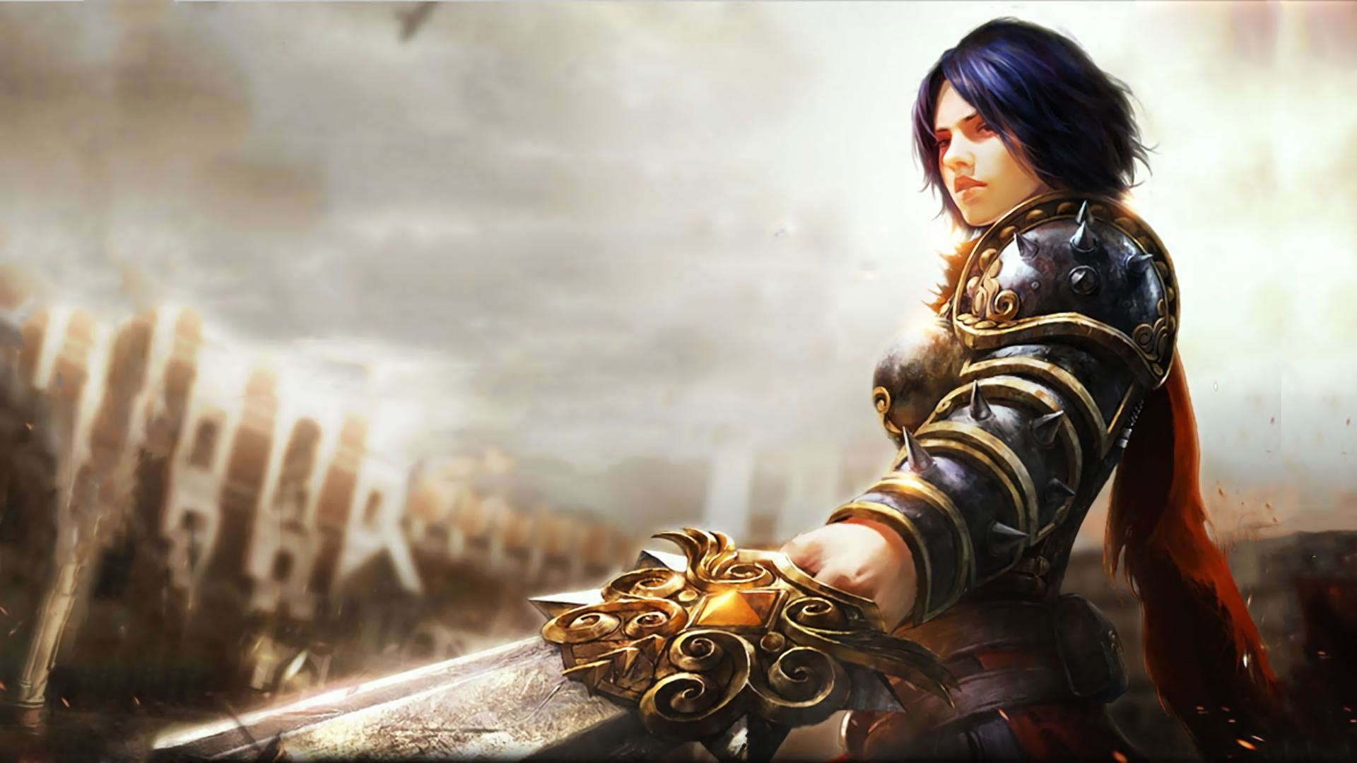 MEDIAI made a Bellona wallpaper from one of the Chinese adds for smite and  thought some people might like it.
