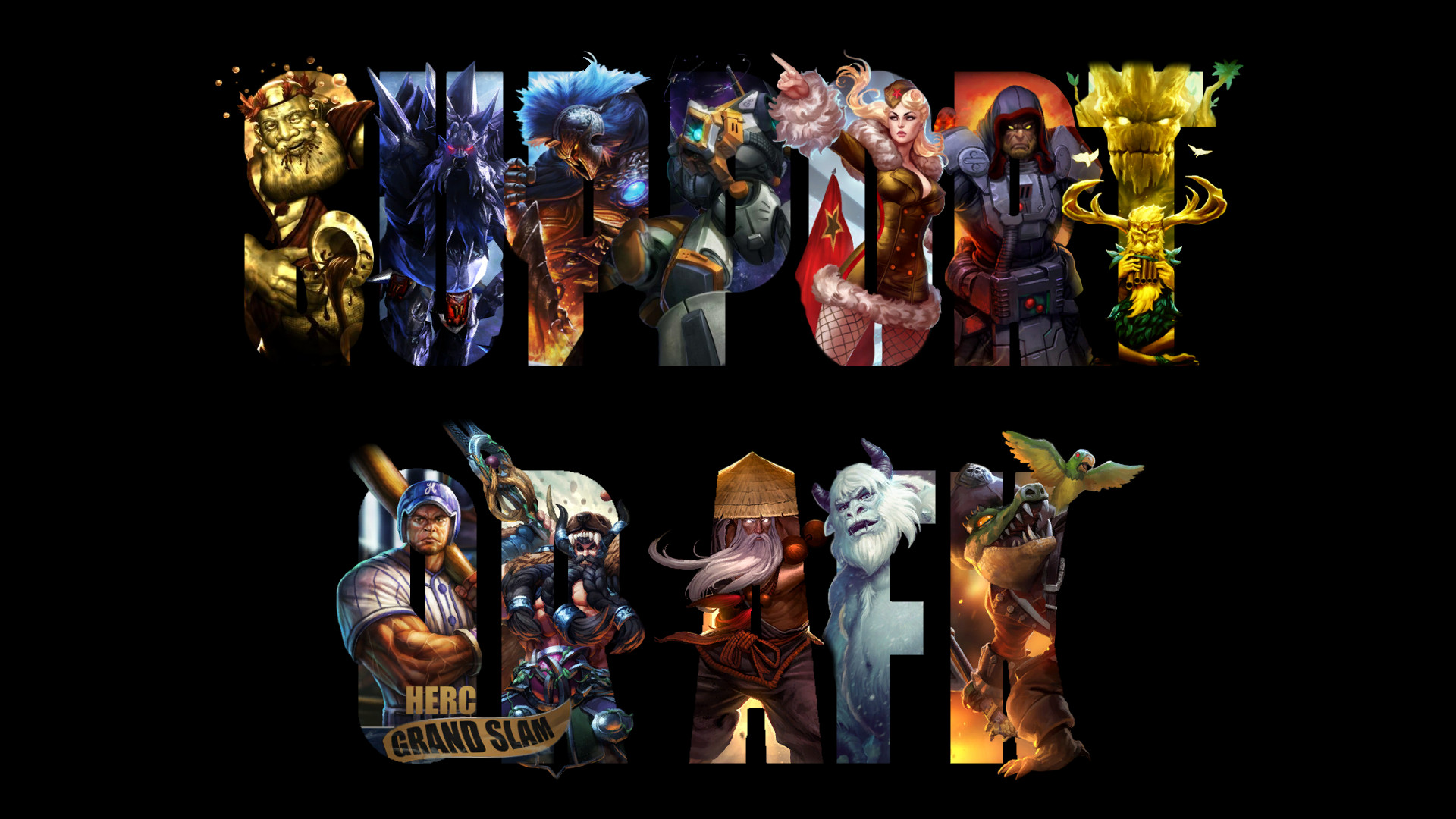… Update on wallpaper of Smite supports by iMorallyGrey