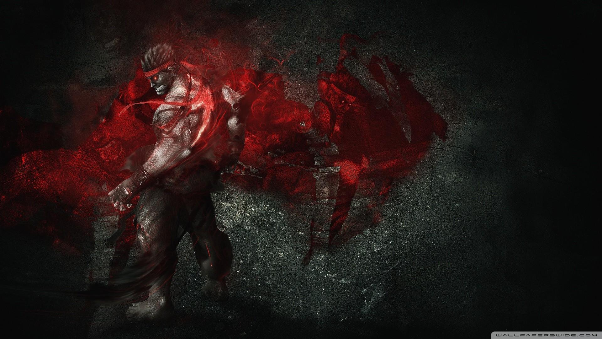 Evil Ryu HD Wide Wallpaper for Widescreen
