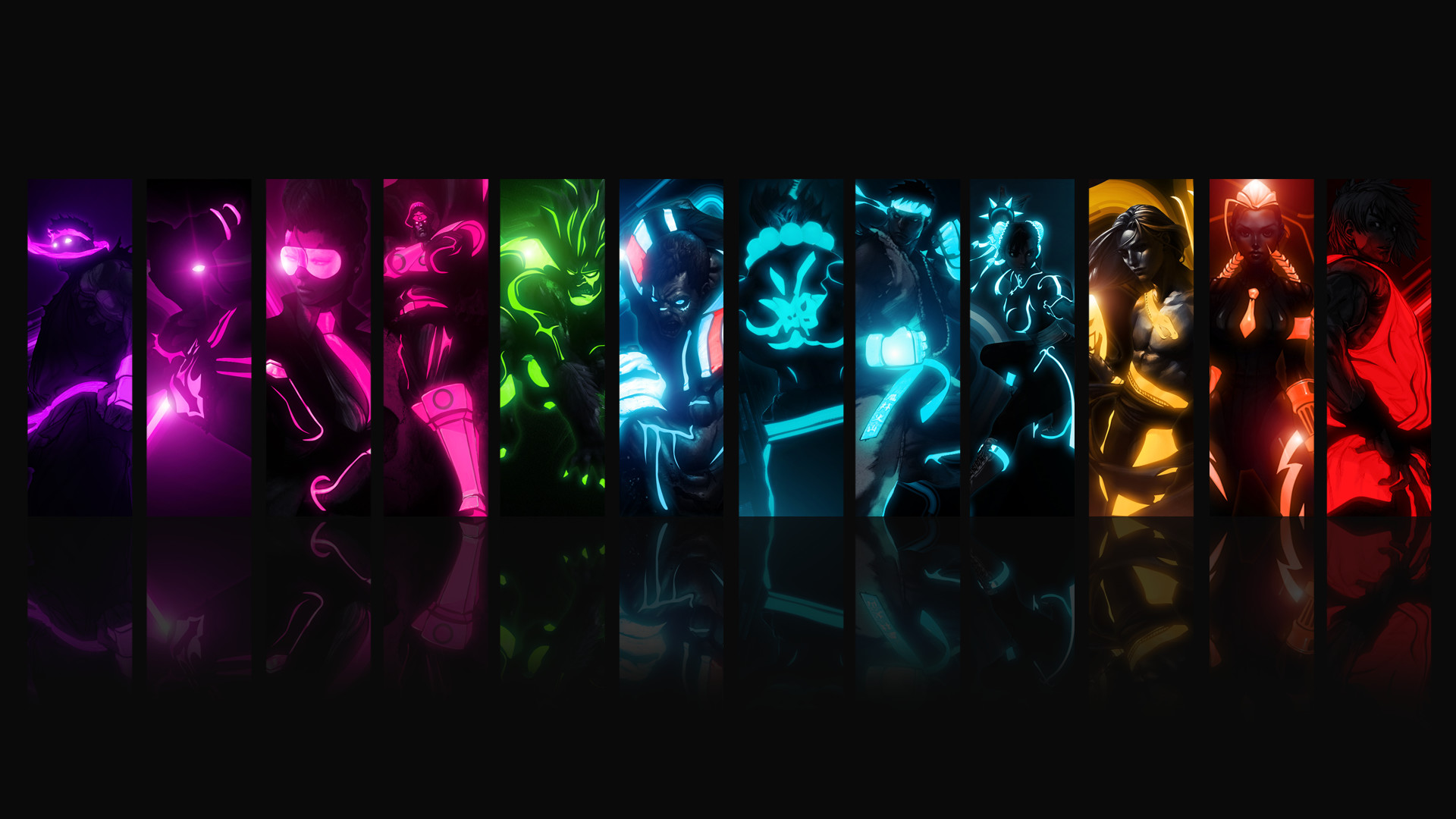 Street fighter characters wallpaper