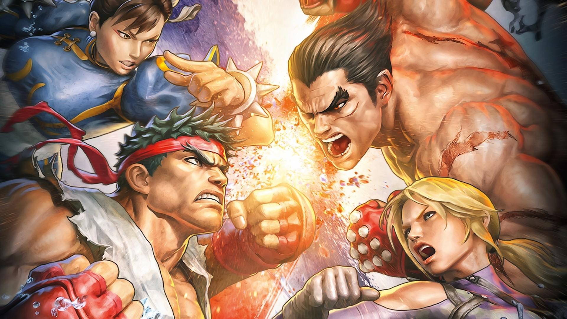 Wallpaper street fighter x tekken, chun-li, ryu, characters,  fighters