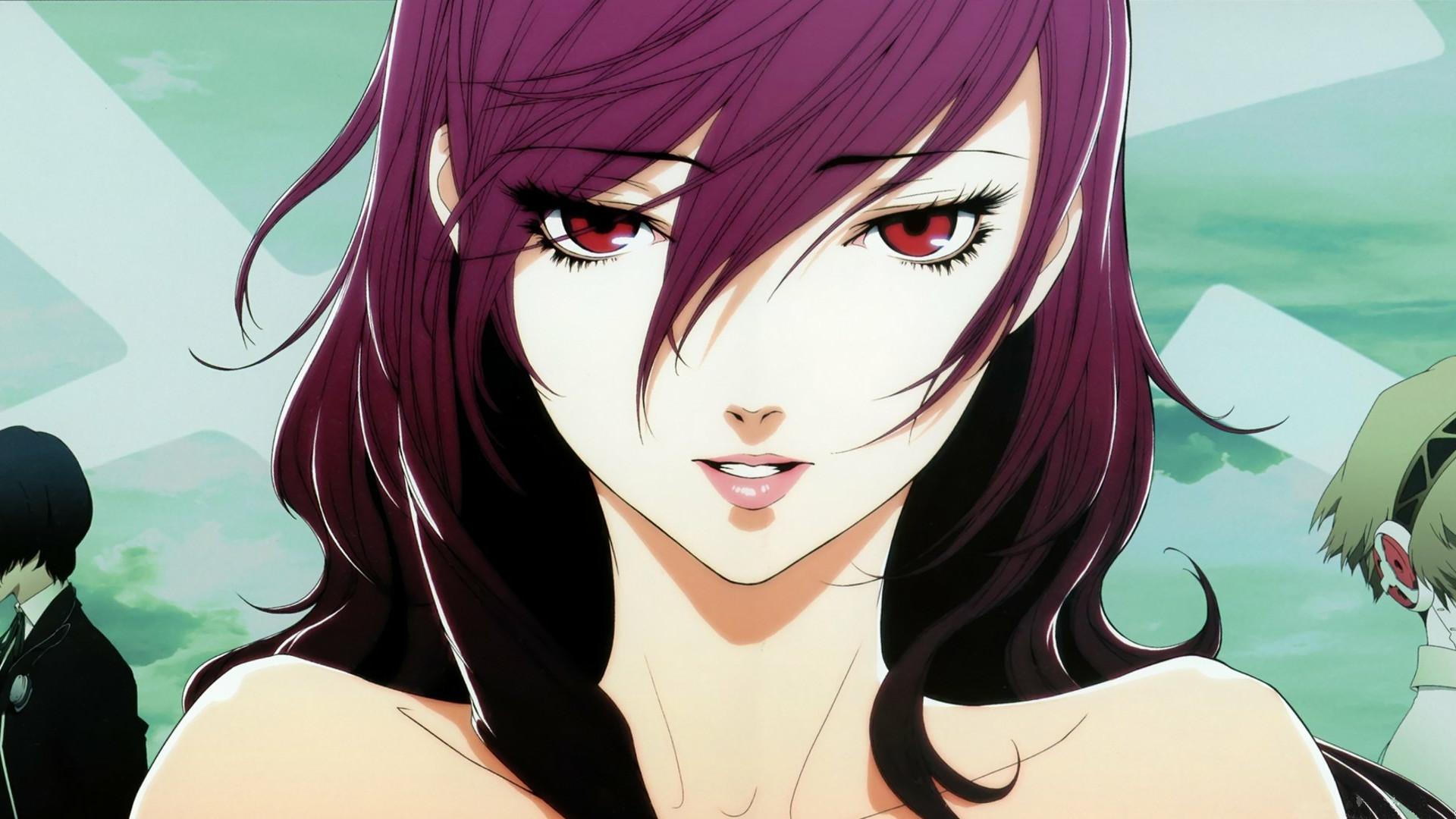 Anime Girls Kirijo Mitsuru Persona 3 Series Red Eyes · aigis …