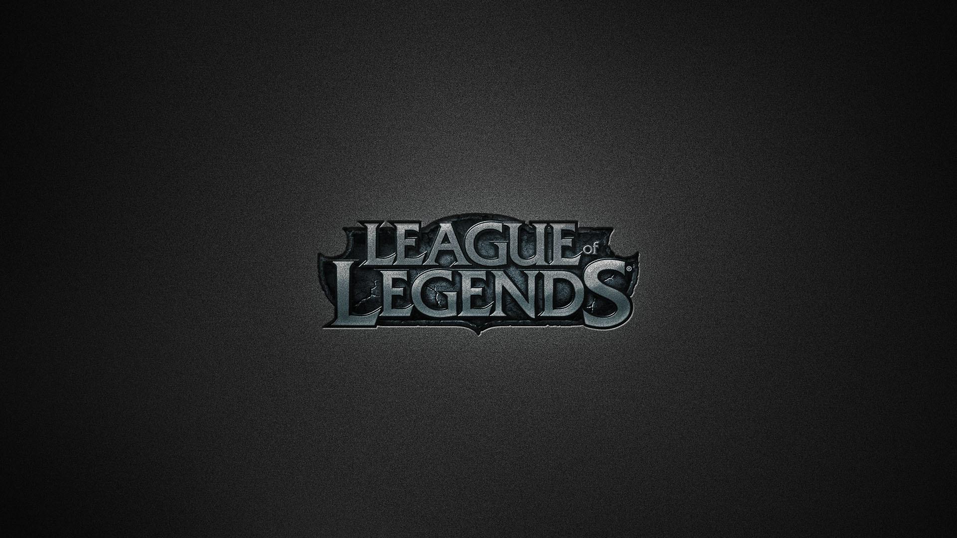League of Legends Logo Brushed HD Wallpaper. »
