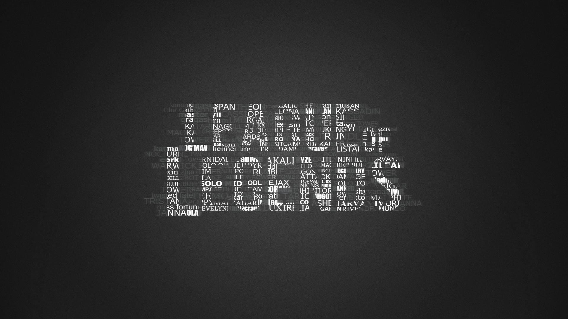 League of Legends Logo in Typography HD Wallpaper. « »