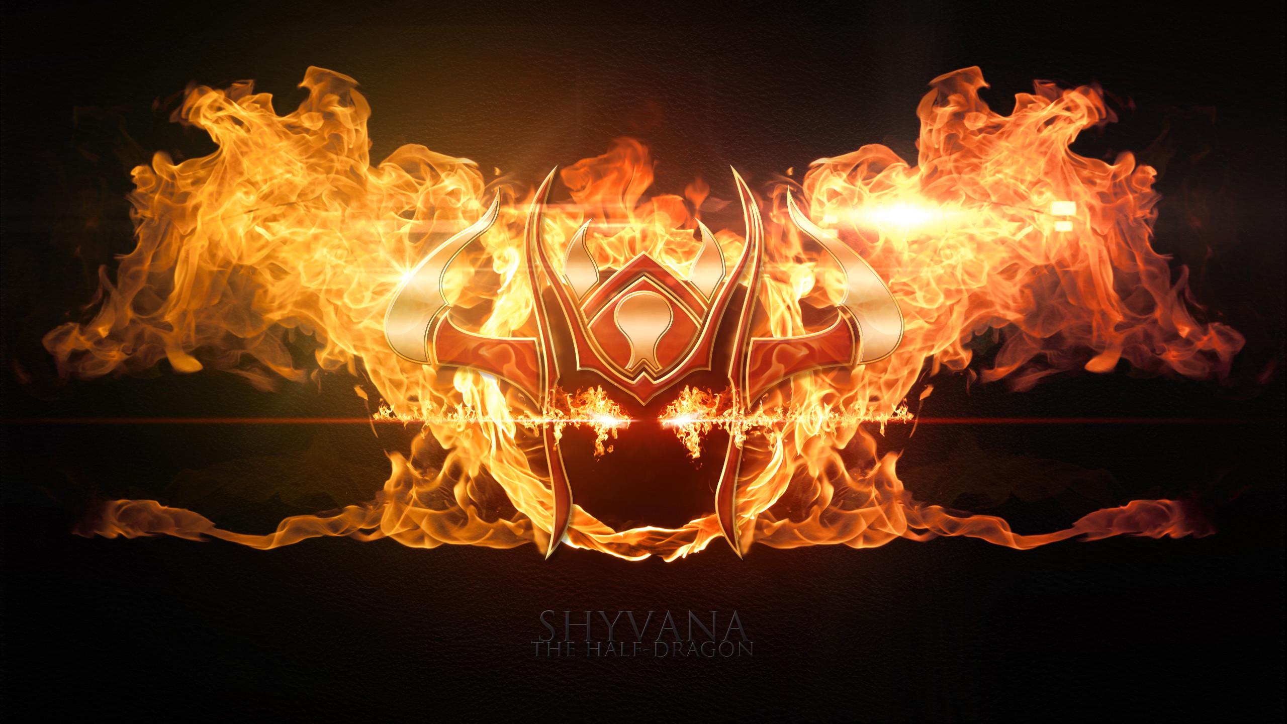 Shyvana League Of Legends Wallpapers HD 1920×1080