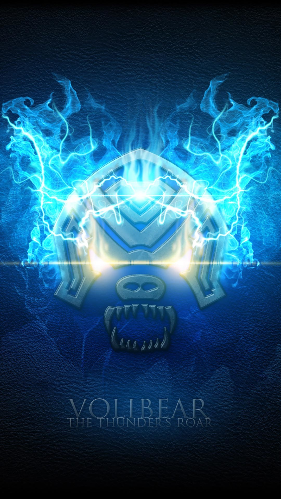 League of Legends Shirts Avaialable, Visit us! Volibear The Thunder's Roar  blue fire android, iphone wallpaper, mobile background