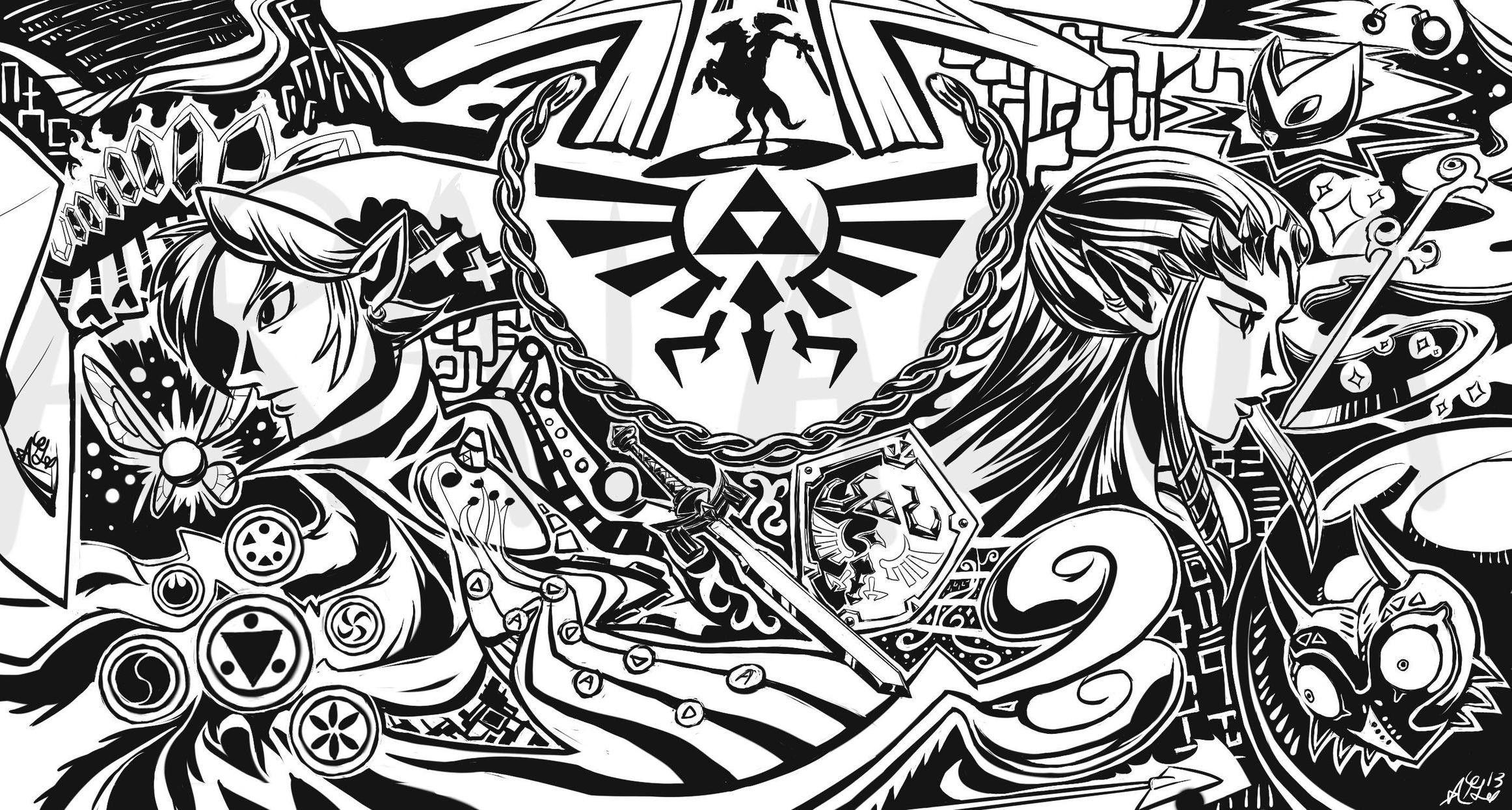 Link triforce Ocarina Of Time The Legend of Zelda Majoras Mask .